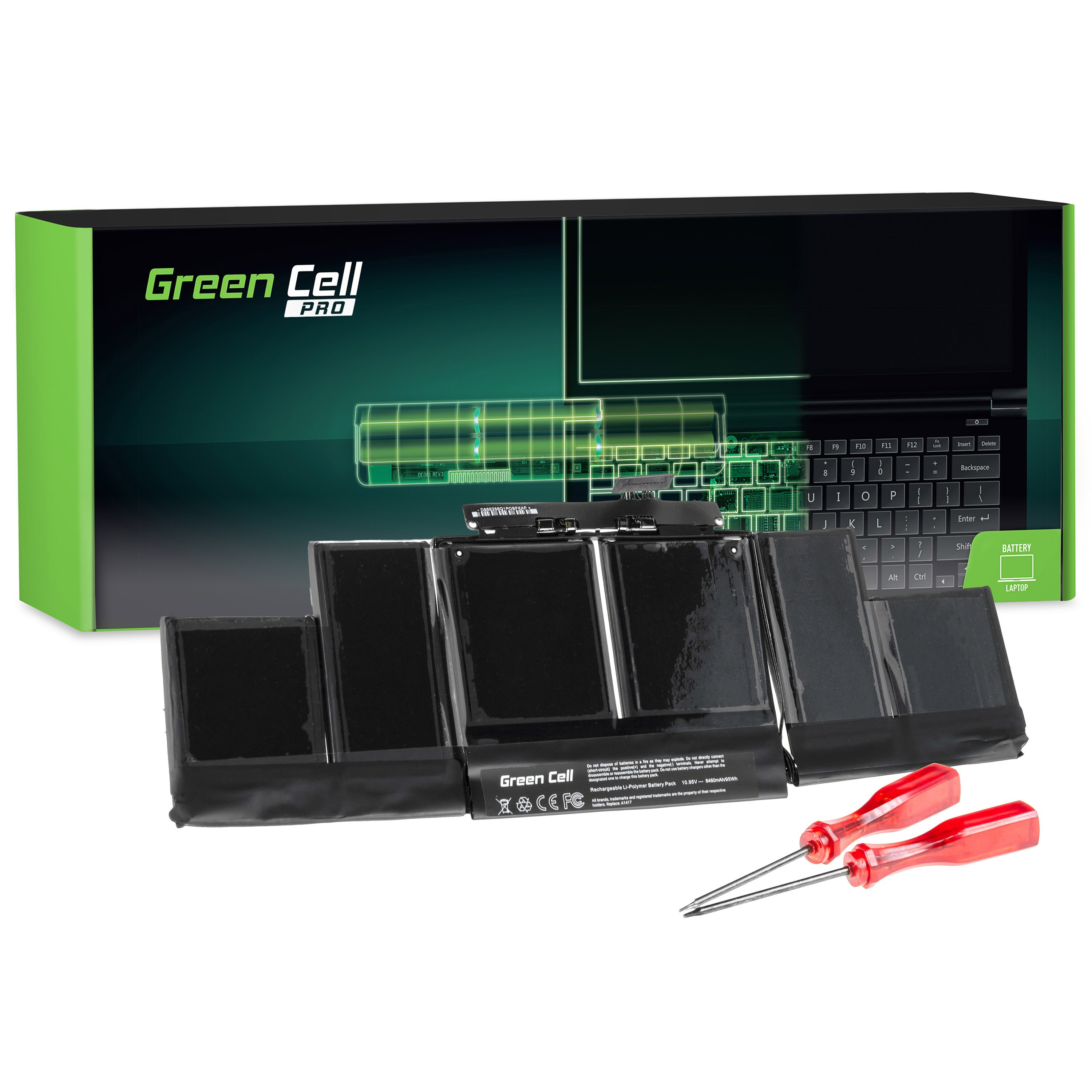 Green Cell PRO Baterie pro Apple Macbook Pro 15 A1398 (Mid 2012, Early 2013) / 10,95V 8700mAh