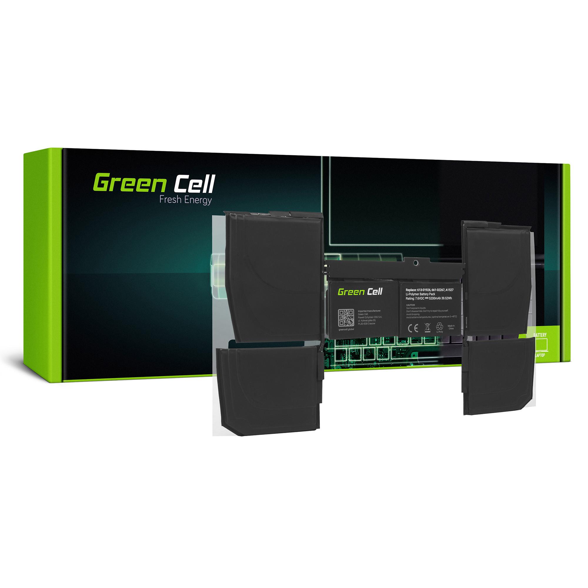 Green Cell AP27 Baterie Apple A1527 Apple MacBook 12 A1534 (Early 2015, Early 2016, Mid 2017) 40Wh Li-Pol – neoriginální