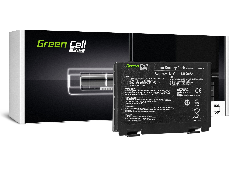 Green Cell AS01PRO Baterie Asus A32-F82/A32-F52/Asus K40/K50IN/K50IJ/K61IC/K70IJ 5200mAh Li-ion - neoriginální