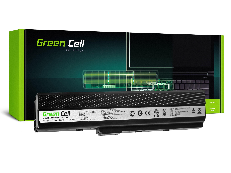 Green Cell AS02 Baterie Asus A32-K52/Asus K52F/K52J/K52N/K42F/B53 N82 4400mAh Li-ion - neoriginální