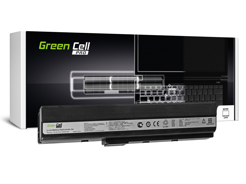 Green Cell AS02PRO Baterie Asus A32-K52/Asus K52F/K52J/K52N/K42F/B53 N82 5200mAh Li-ion - neoriginální
