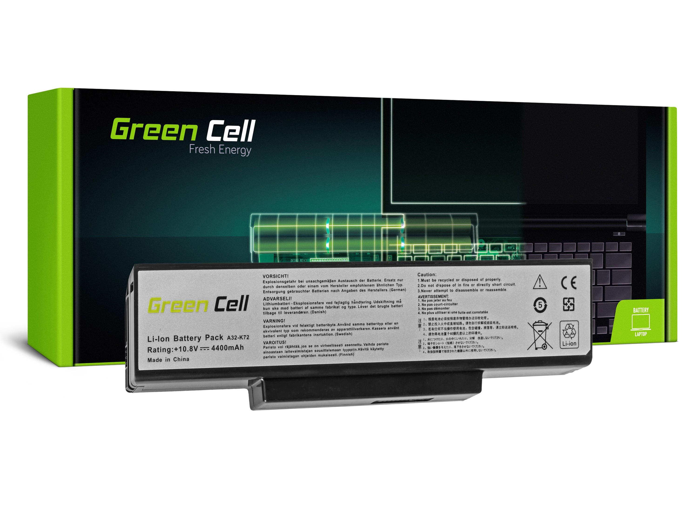 Green Cell AS06 Baterie Asus N71/K72/K72J/K72F/K73SV/N71/N73/N73S/N73SV/X73S 4400mAh Li-ion - neoriginální