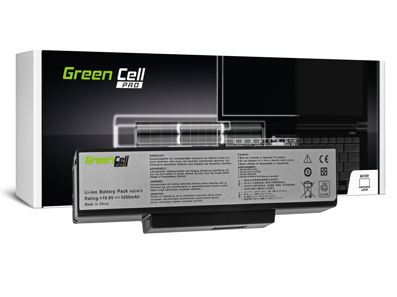 Green Cell AS06PRO Baterie Asus N71/K72/K72J/K72F/K73SV/N71/N73/N73S/N73SV/X73S 5200mAh Li-ion - neoriginální