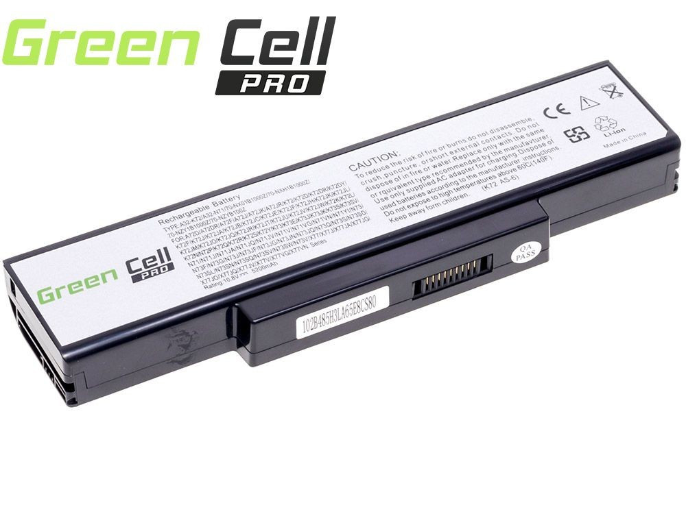Green Cell PRO Baterie pro Asus A32-K72 K72 K73 N71 N73 / 11,1V 5200mAh