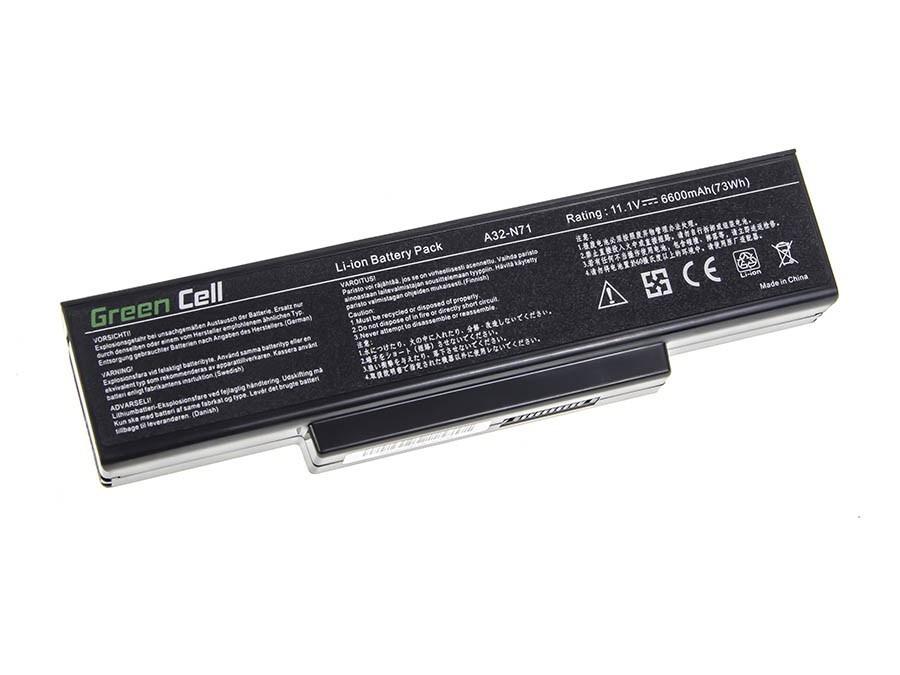 Green Cell AS07 Baterie Asus N71/K72/K72J/K72F/K73SV/N71/N73/N73S/N73SV/X73S 6600mAh Li-ion - neoriginální