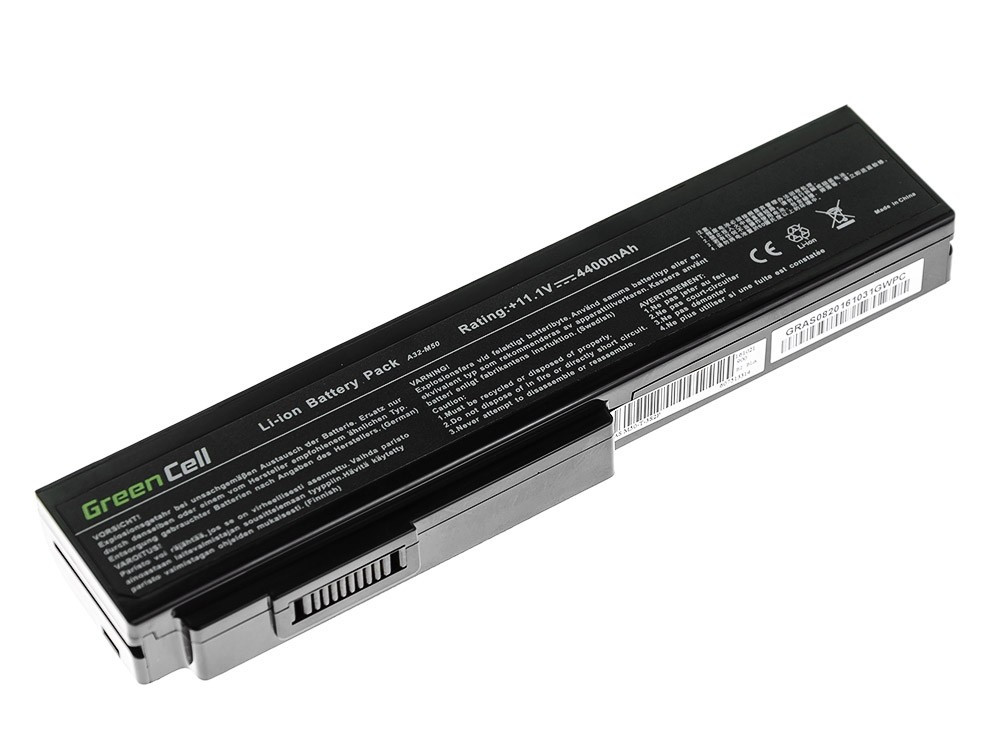 Green Cell AS08 Baterie Asus G50/G51/G60/M50/M50V/N53/N53SV/N61/N61VG/N61JV 4400mAh Li-ion - neoriginální