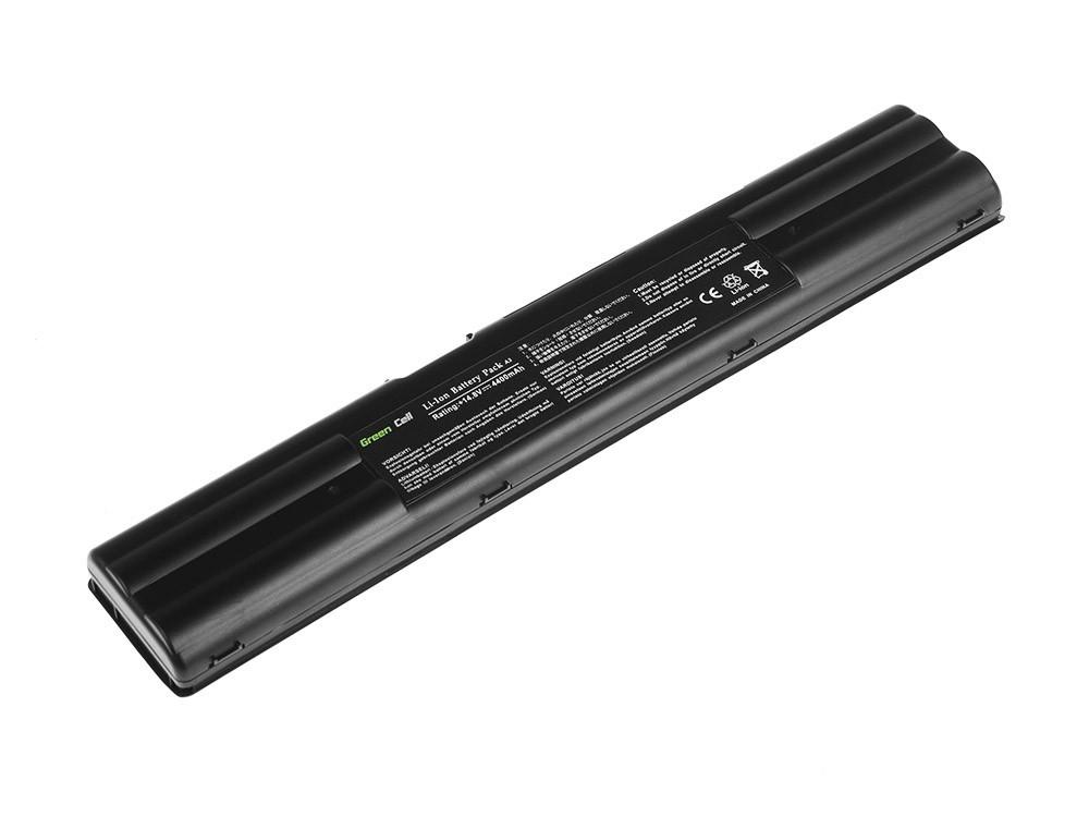 Green Cell Battery for Asus A3 A3A A3000 A6 A6M A6R A6000 A7 G1 G2 / 14,4V 4400mAh