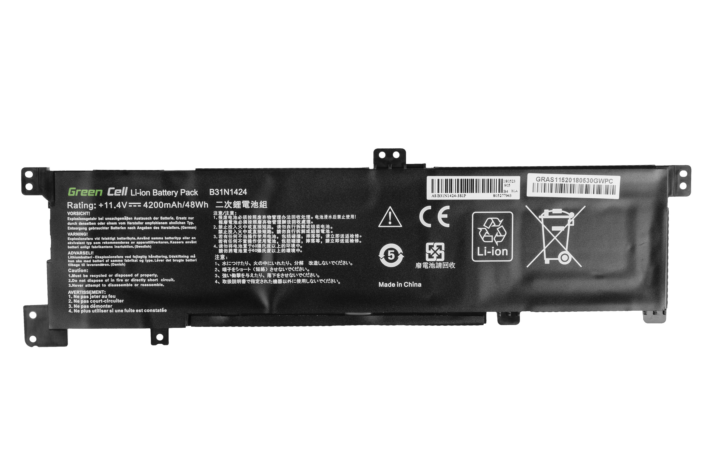 Green Cell AS123 Baterie Asus B31N1424/Asus K401/K401L/K401LB/K401U/K401UB/K401UQ1 4200mAh Li-Pol – neoriginální