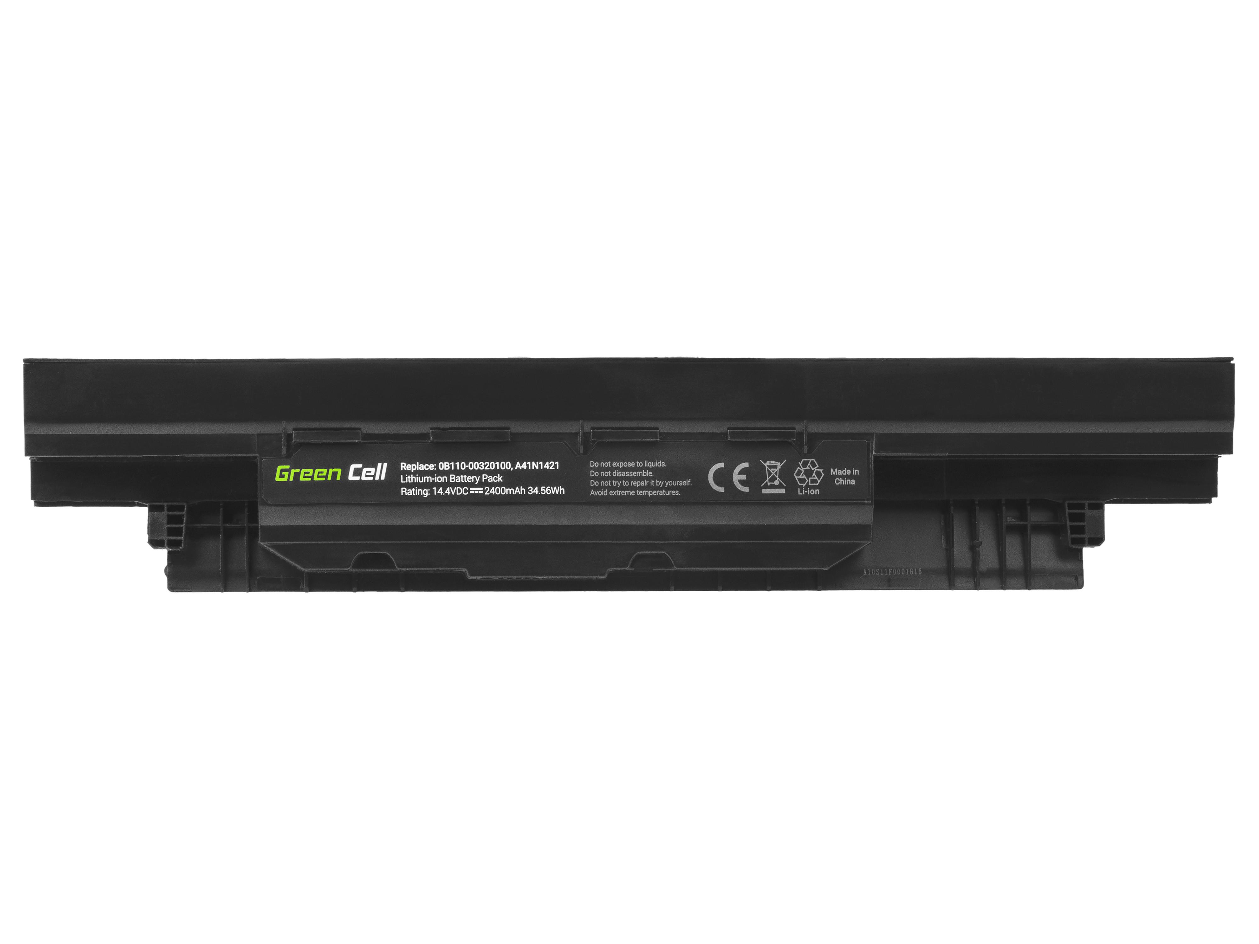 Green Cell AS127 Baterie Asus A41N1421 Asus P2420 P2420L P2420LA P2420LJ P2440U P2440UQ P2520 P2520L 2400mAh Li-Pol – neoriginální