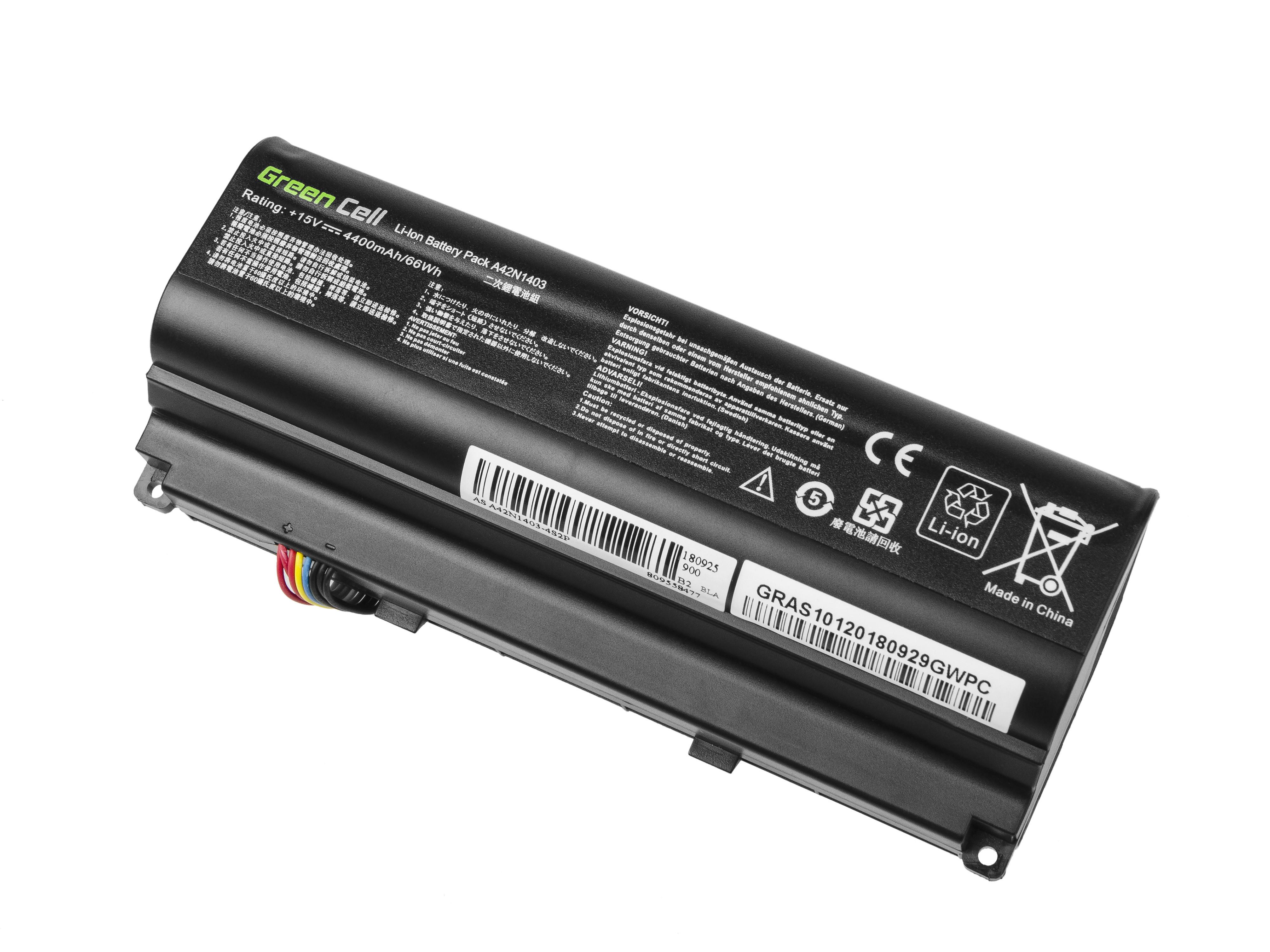 Green Cell AS128 Baterie Asus A42N1403/A42Nl403/Asus ROG/G751/G751JL/G751JM/G751JT 4400mAh Li-ion - neoriginální