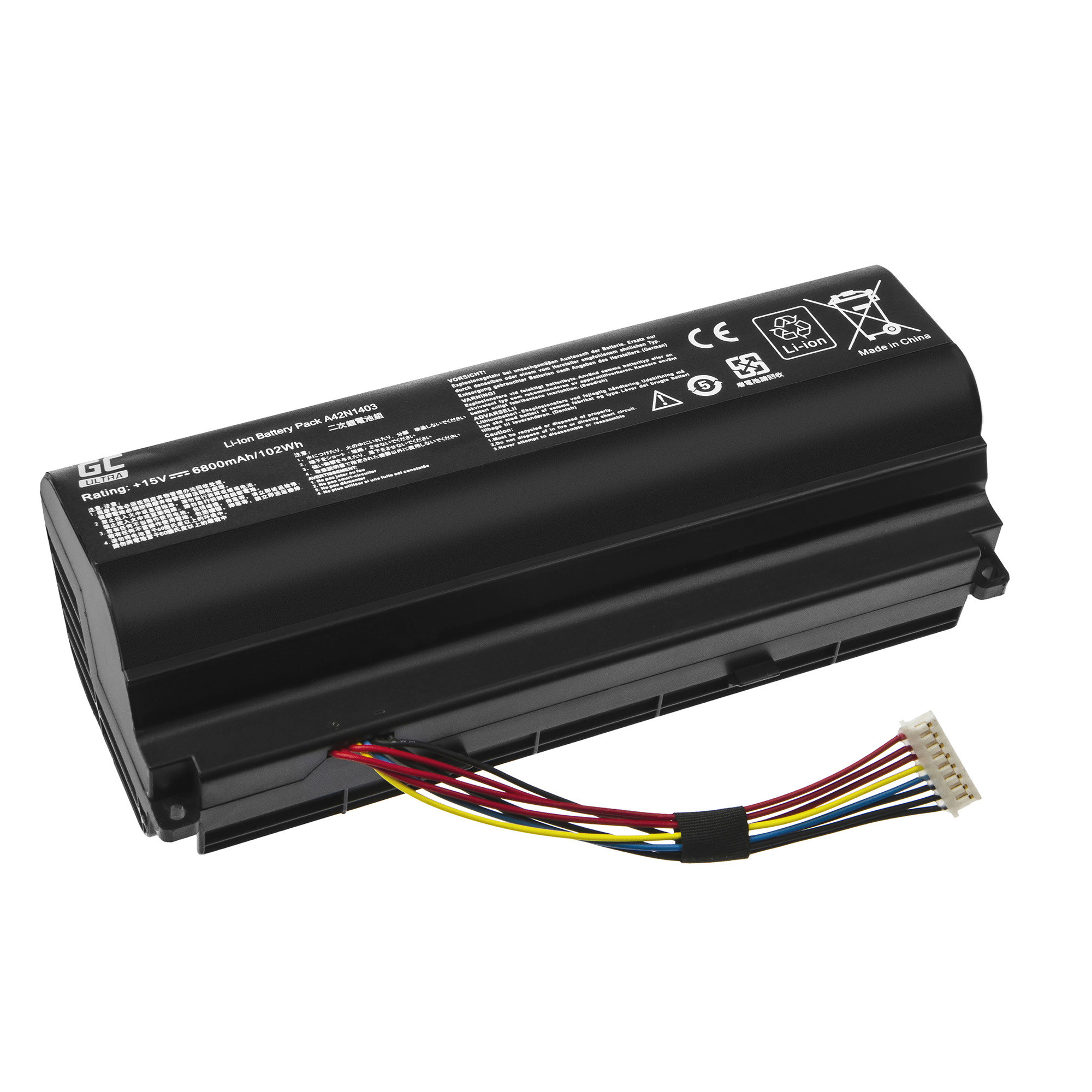 Green Cell AS128ULTRA Baterie Asus A42N1403, Asus ROG G751 G751J G751JL G751JM G751JT G751JY 6800mAh Li-ion - neoriginální