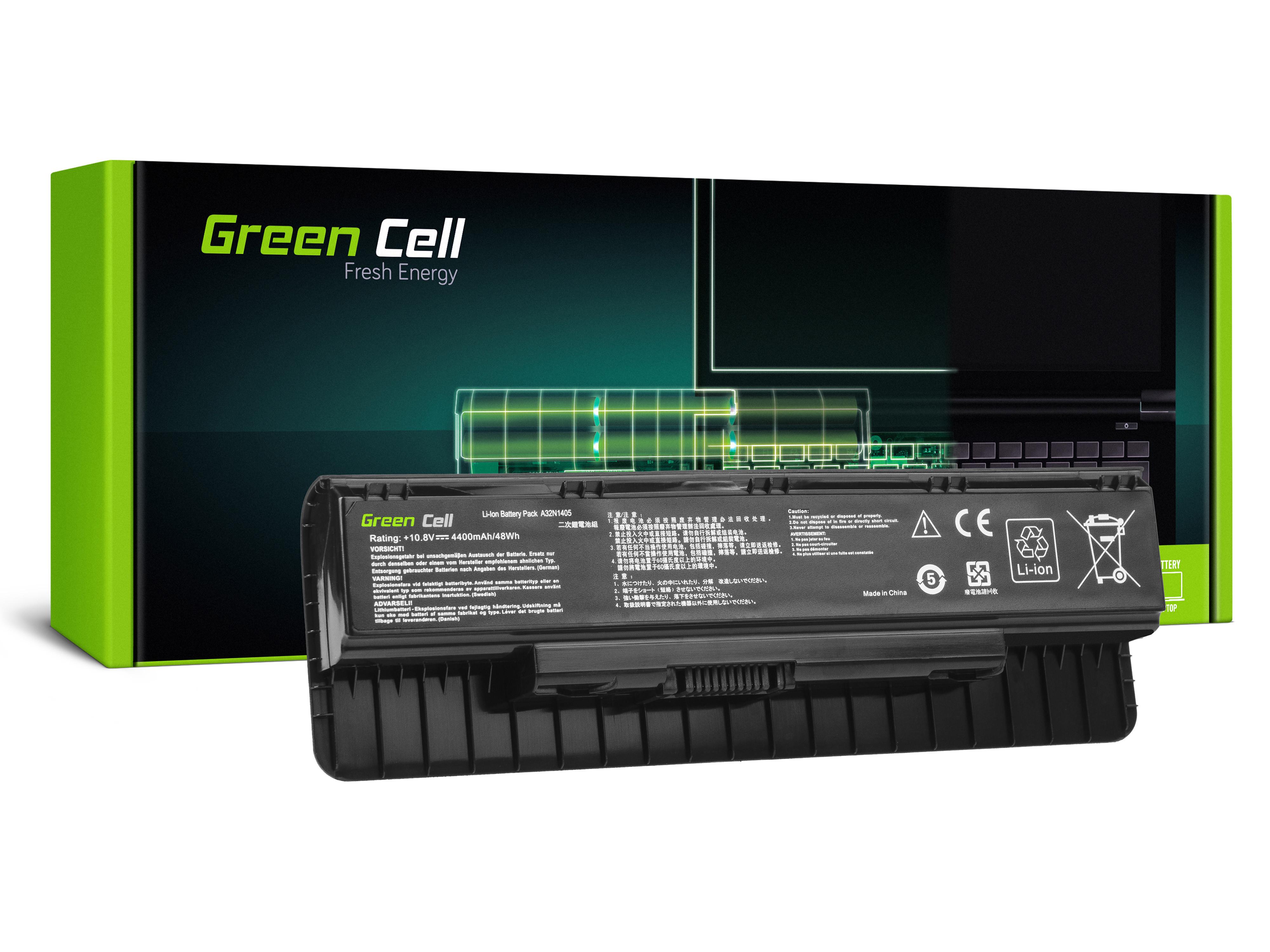 Green Cell AS129 Baterie Asus A32N1405 Asus G551 G551J G551JM G551JW G771 G771J G771JM G771JW N551 4400mAh Li-ion - neoriginální