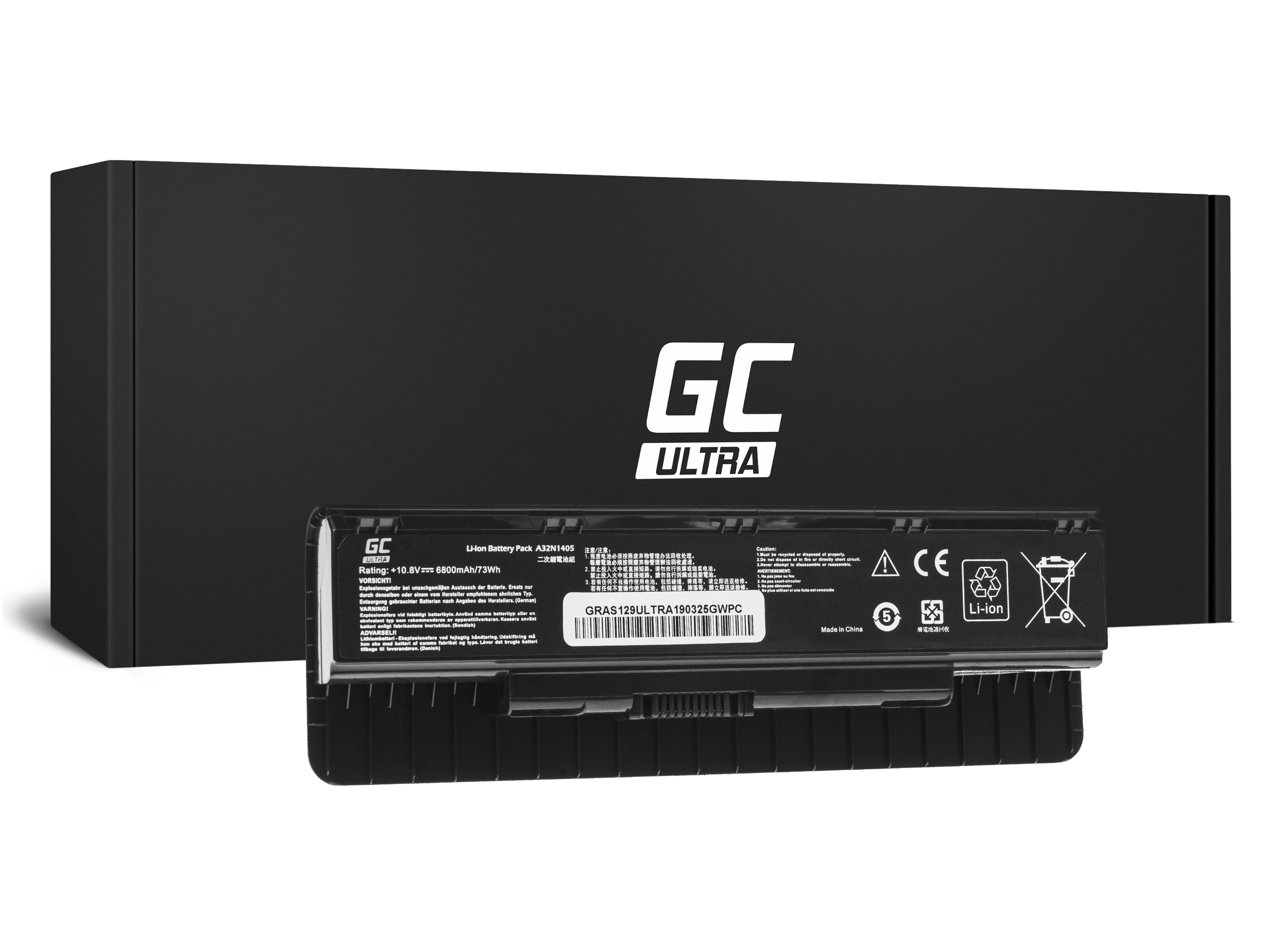 Green Cell ULTRA Battery A32N1405 for Asus G551 G551J G551JM G551JW G771 G771J G771JM G771JW N551 N551J N551JM N551JW N551JX / 1