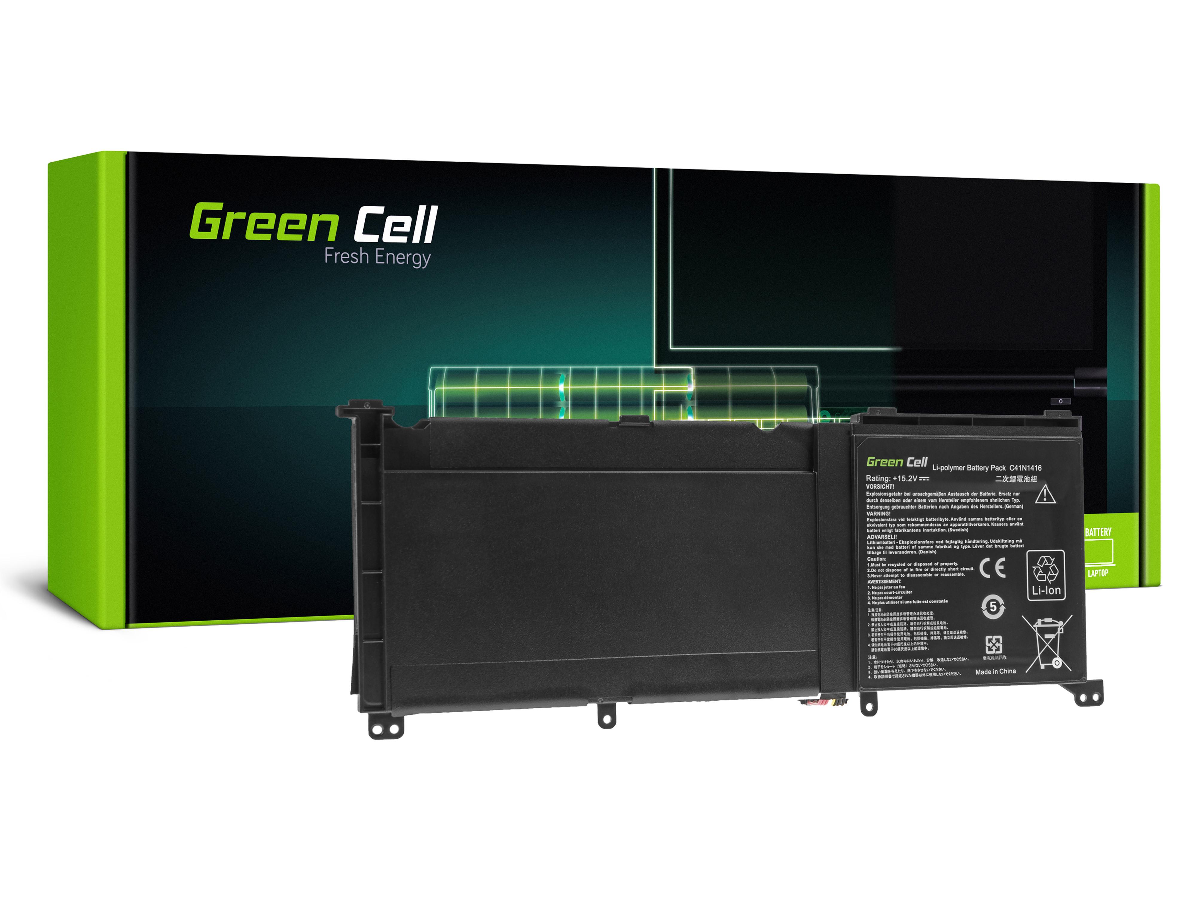 Green Cell C41N1416 Baterie pro Asus G501J G501JW G501V G501VW Asus ZenBook Pro UX501 UX501J UX501JW UX501V UX501VW / 15,2V 3950