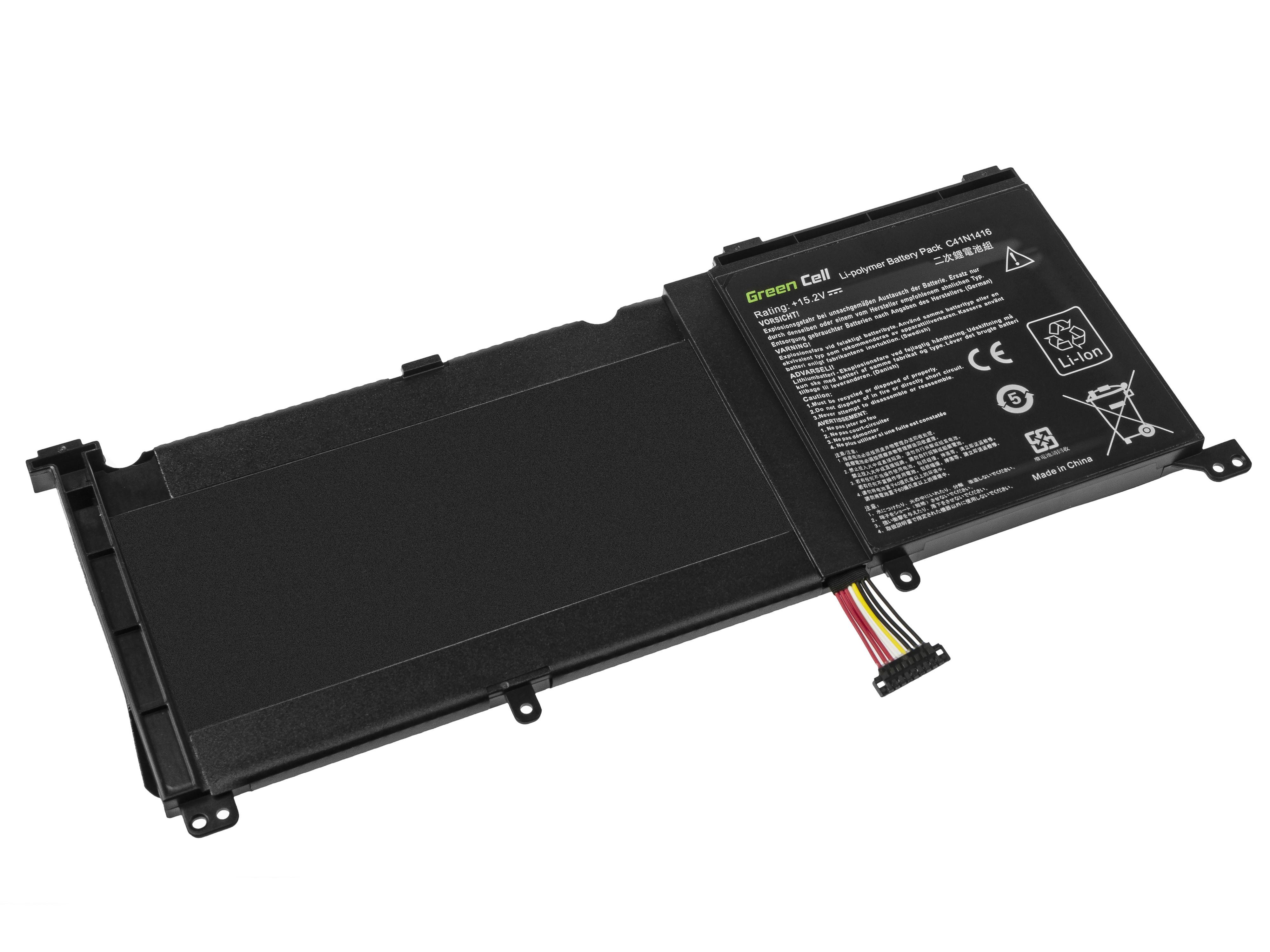 Green Cell C41N1416 Battery for Asus G501J G501JW G501V G501VW Asus ZenBook Pro UX501 UX501J UX501JW UX501V UX501VW / 15,2V 3950