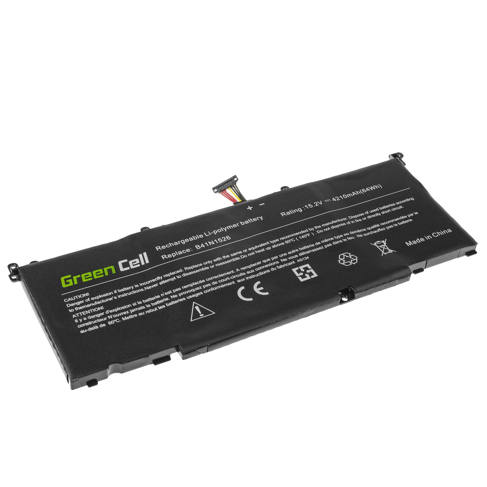 Green Cell B41N1526 Battery for Asus FX502 FX502V FX502VD FX502VM ROG Strix GL502VM GL502VT GL502VY / 15,2V 4210mAh