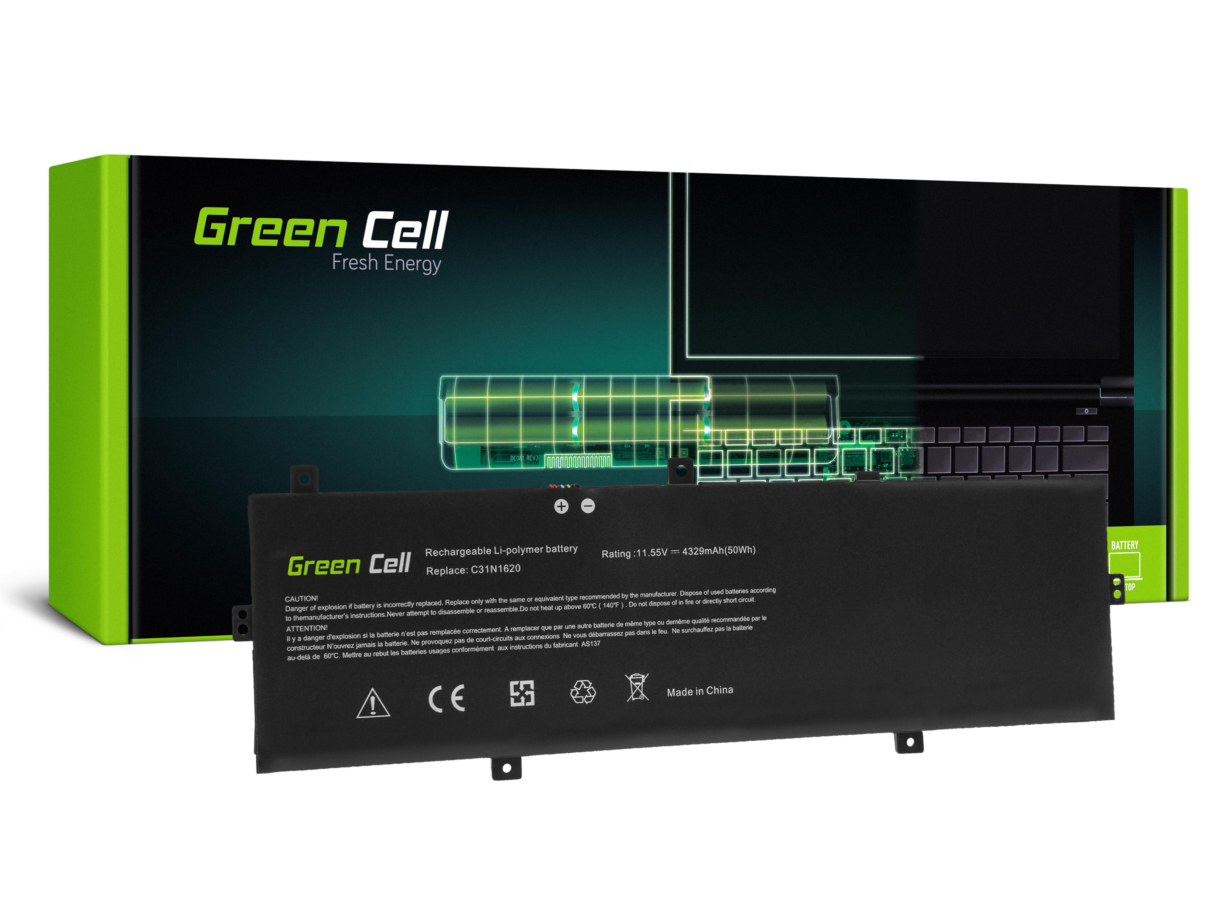 Green Cell C31N1620 Baterie pro Asus ZenBook UX430 UX430U UX430UA UX430UN UX430UQ / 11,55V 4329mAh