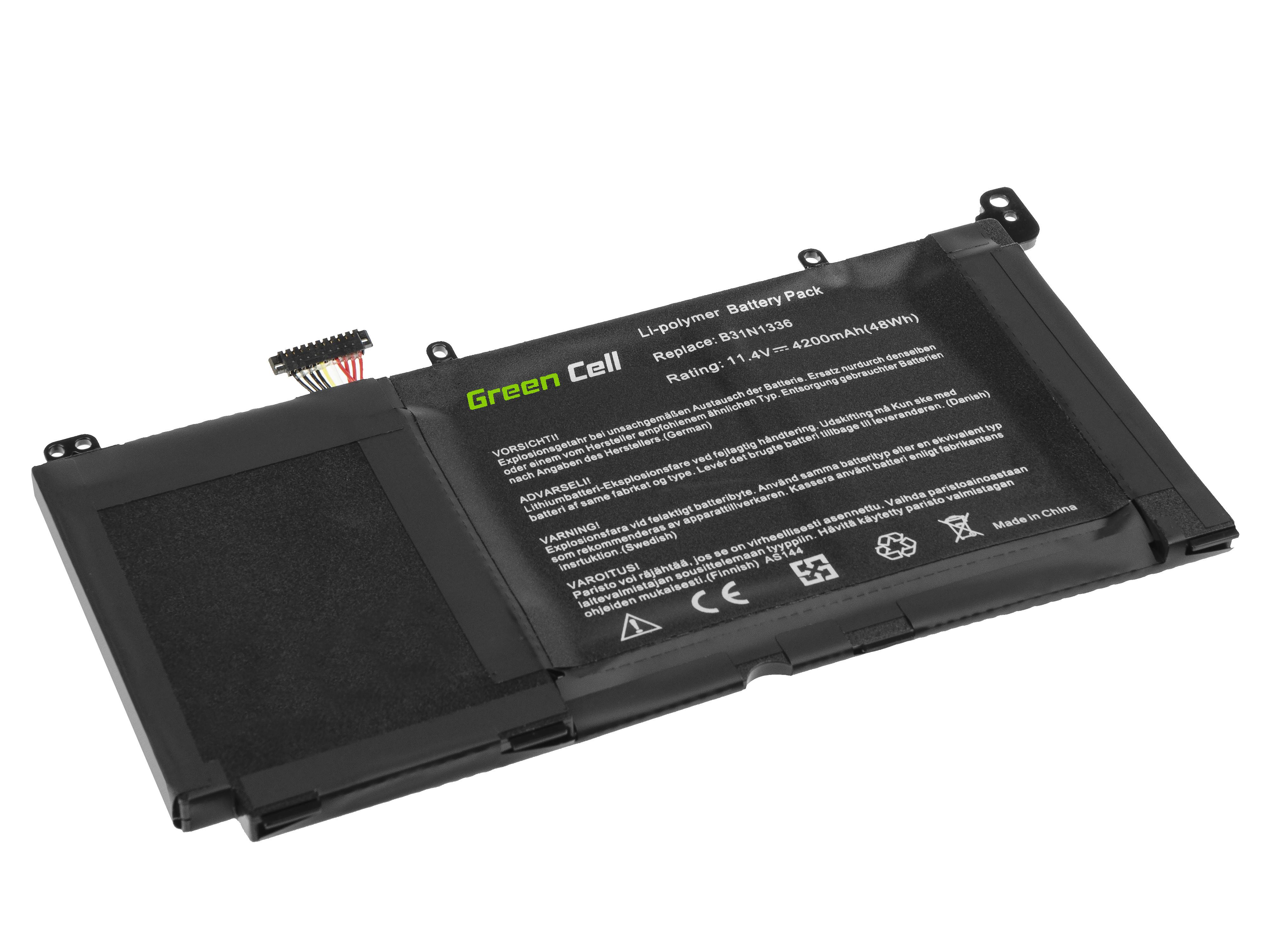 Green Cell AS144 Baterie Asus B31N1336, Asus R553 R553L R553LN 4200mAh Li-Pol – neoriginální