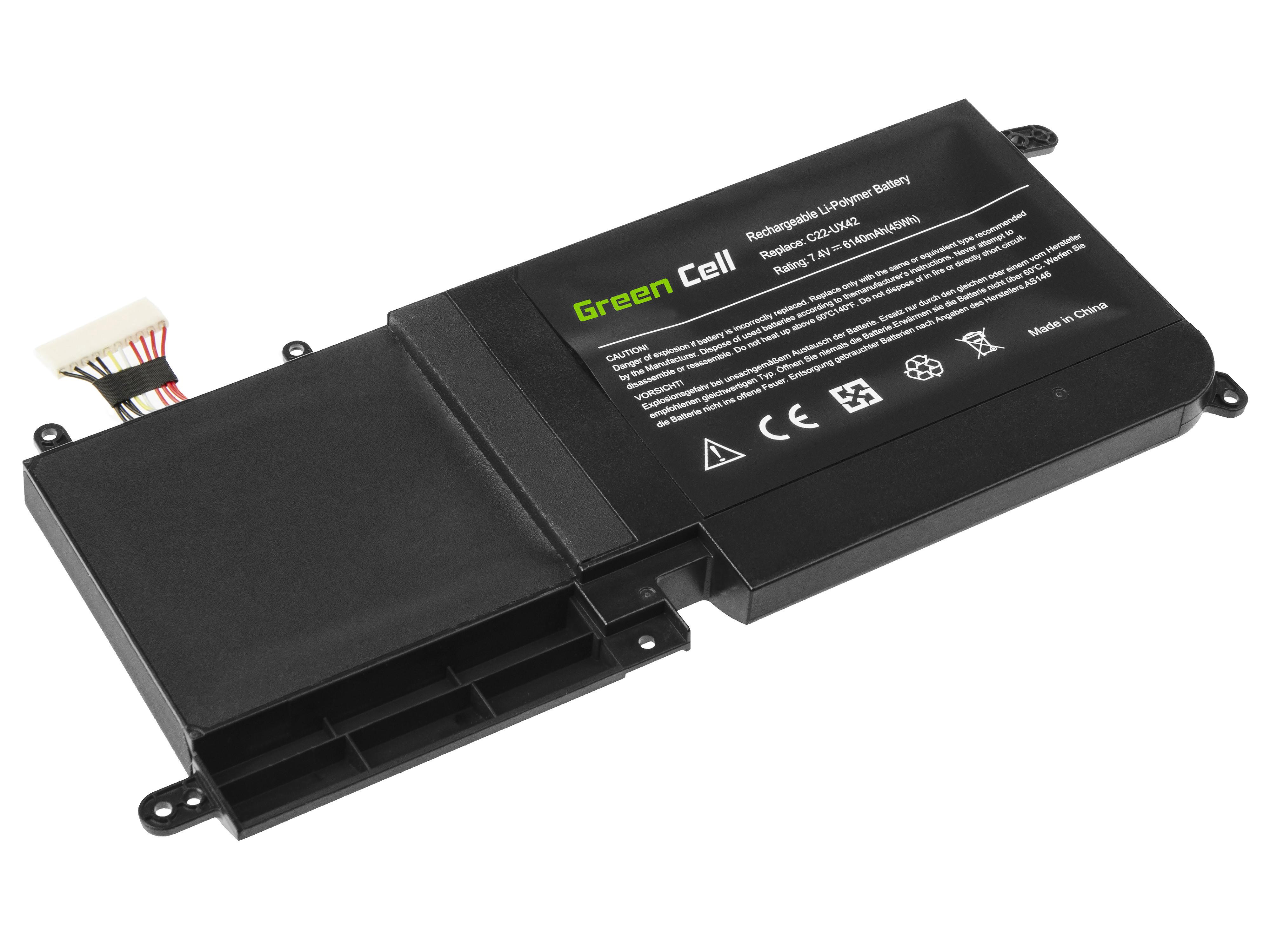 Green Cell AS146 Baterie Asus C22-UX42,Asus ZenBook UX42 UX42V UX42VS 6140mAh Li-Pol – neoriginální