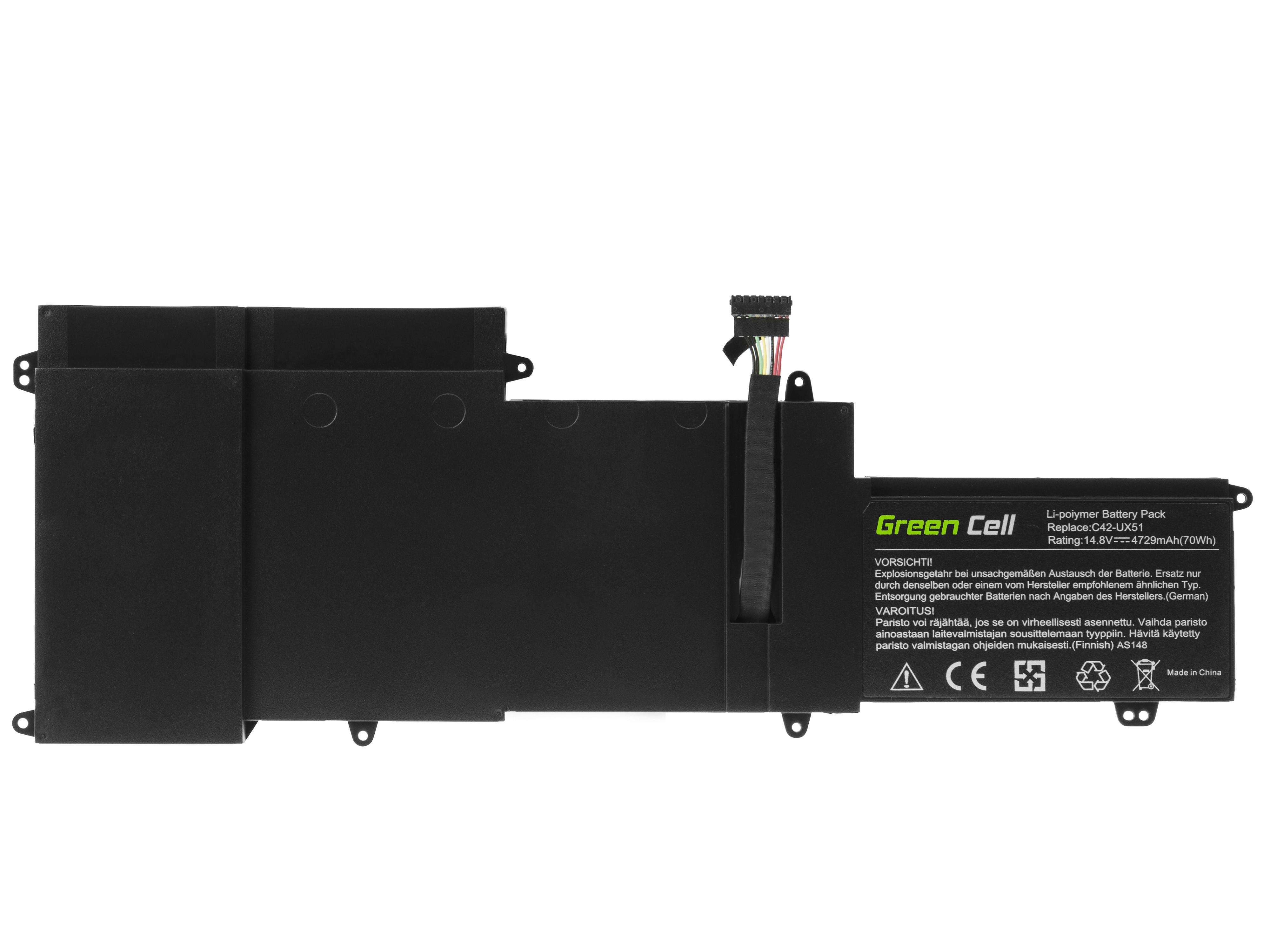 Green Cell AS148 Baterie Asus C42-UX51,Asus ZenBook UX51 UX51V UX51VZ 4729mAh Li-Pol – neoriginální