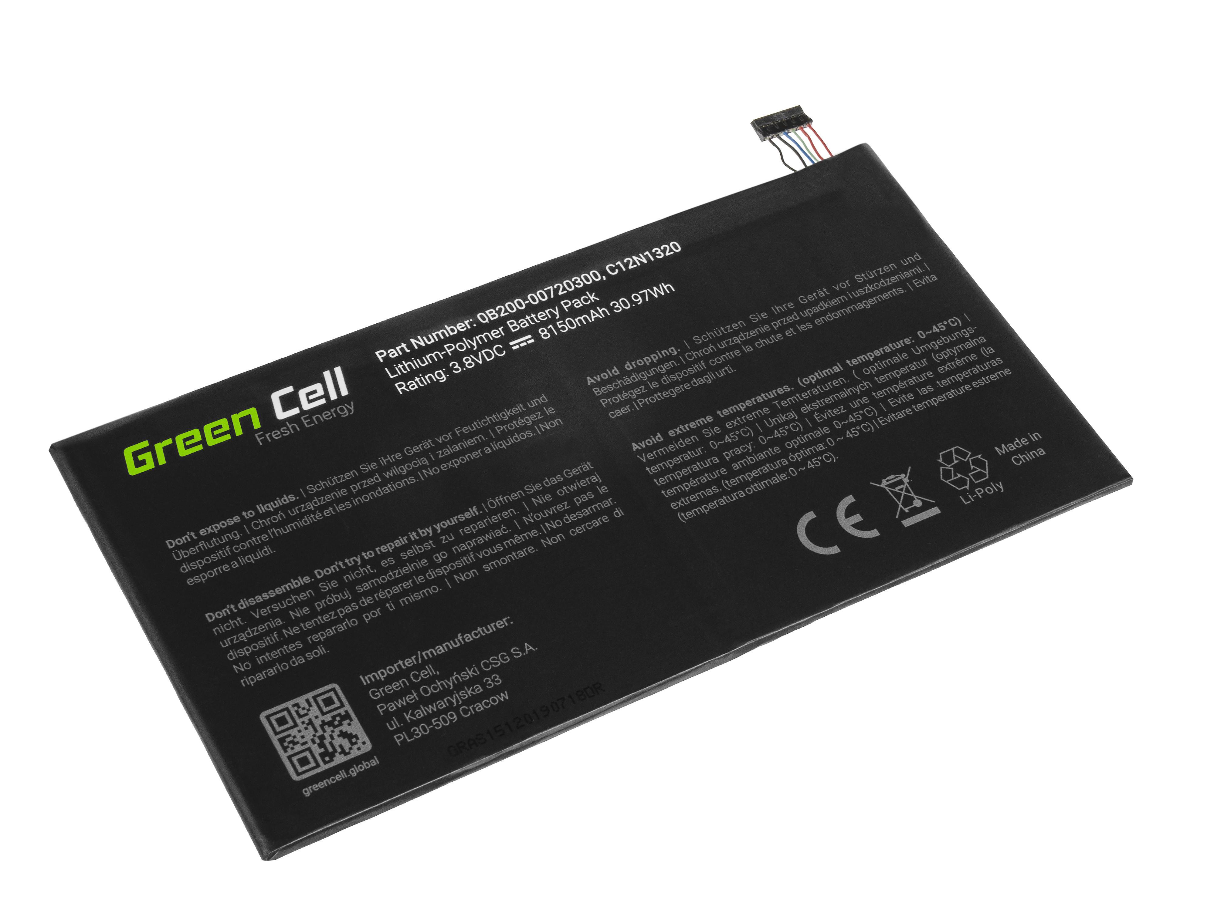 Green Cell AS151 Baterie Asus C12N1320 pro Asus Transformer Book T100T T100TA T100TAF T100TAM 8150mAh Li-Pol – neoriginální