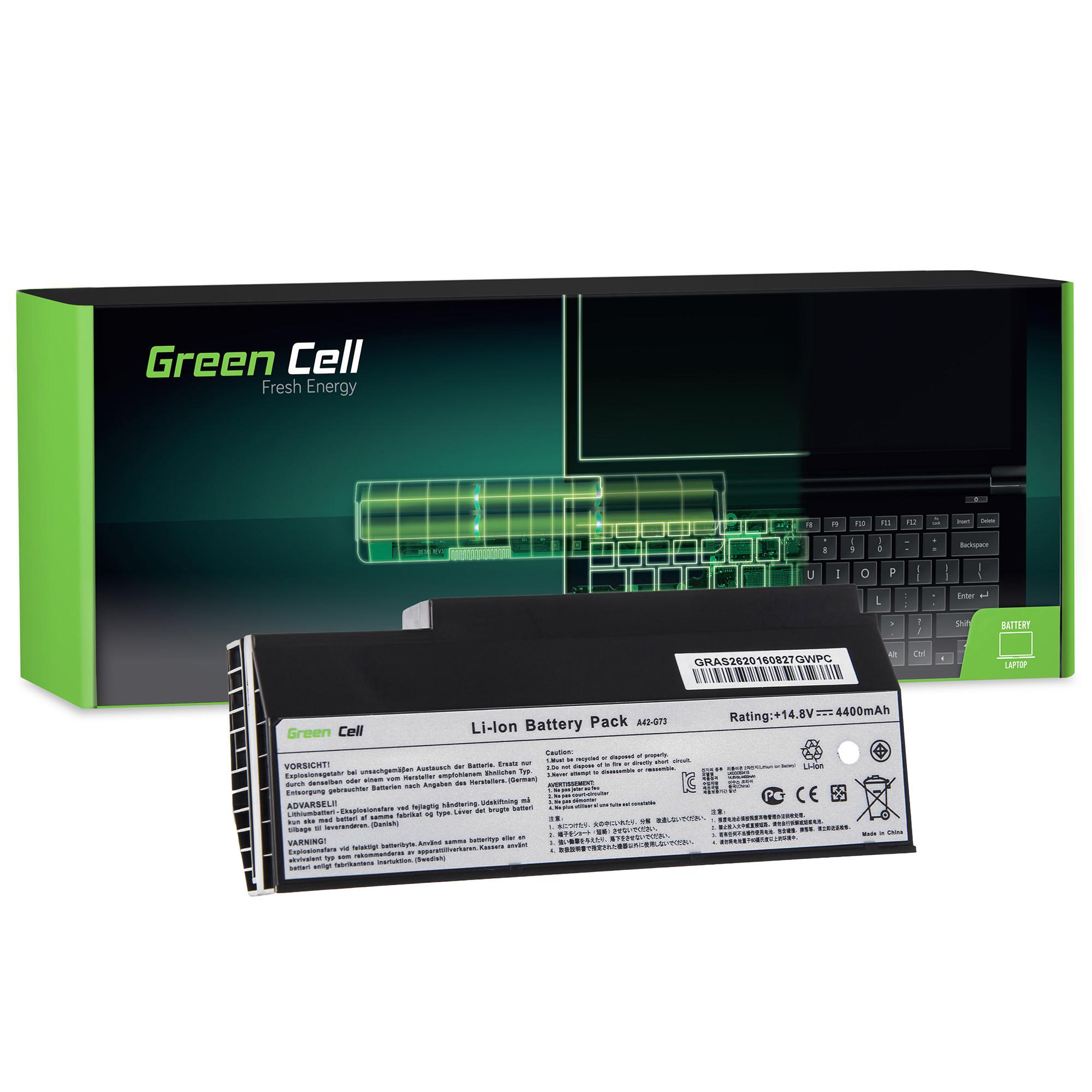 Green Cell AS26 Baterie Asus G53/G53SW/G73/G73J/G73JH/G73JW 4400mAh Li-ion - neoriginální