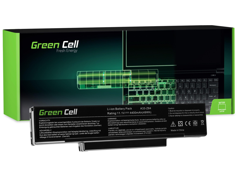 Green Cell AS33 Baterie Asus A9/S9/S96/Z62/Z9/Z94/Z96/COMPAL FL90/COMPAL FL92 4400mAh Li-ion - neoriginální