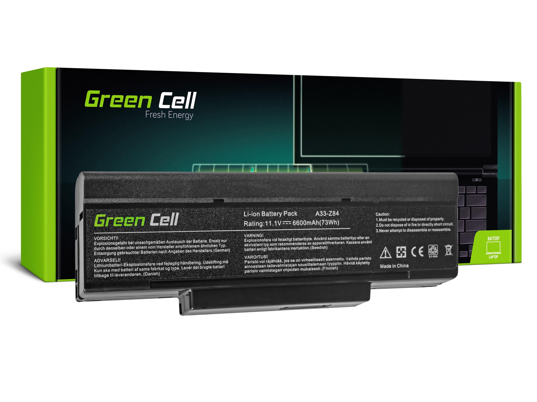 Green Cell AS34 Baterie Asus A9/S9/S96/Z62/Z9/Z94/Z96/COMPAL FL90/COMPAL FL92 6600mAh Li-ion - neoriginální