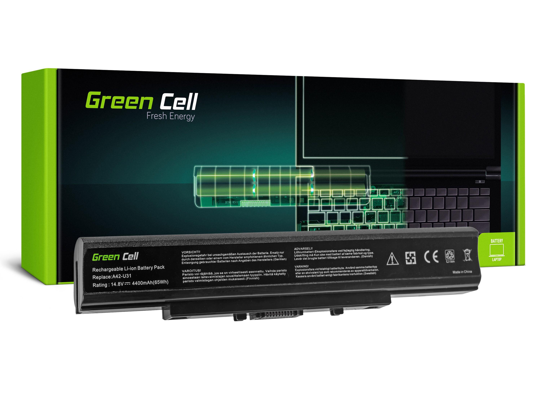 Green Cell AS39 Baterie Asus A42-U31 A32-U31 Asus Asus U31 U31F U31J U31JC U31JF U31JG U31S U31SD U41 4400mAh Li-ion - neoriginální