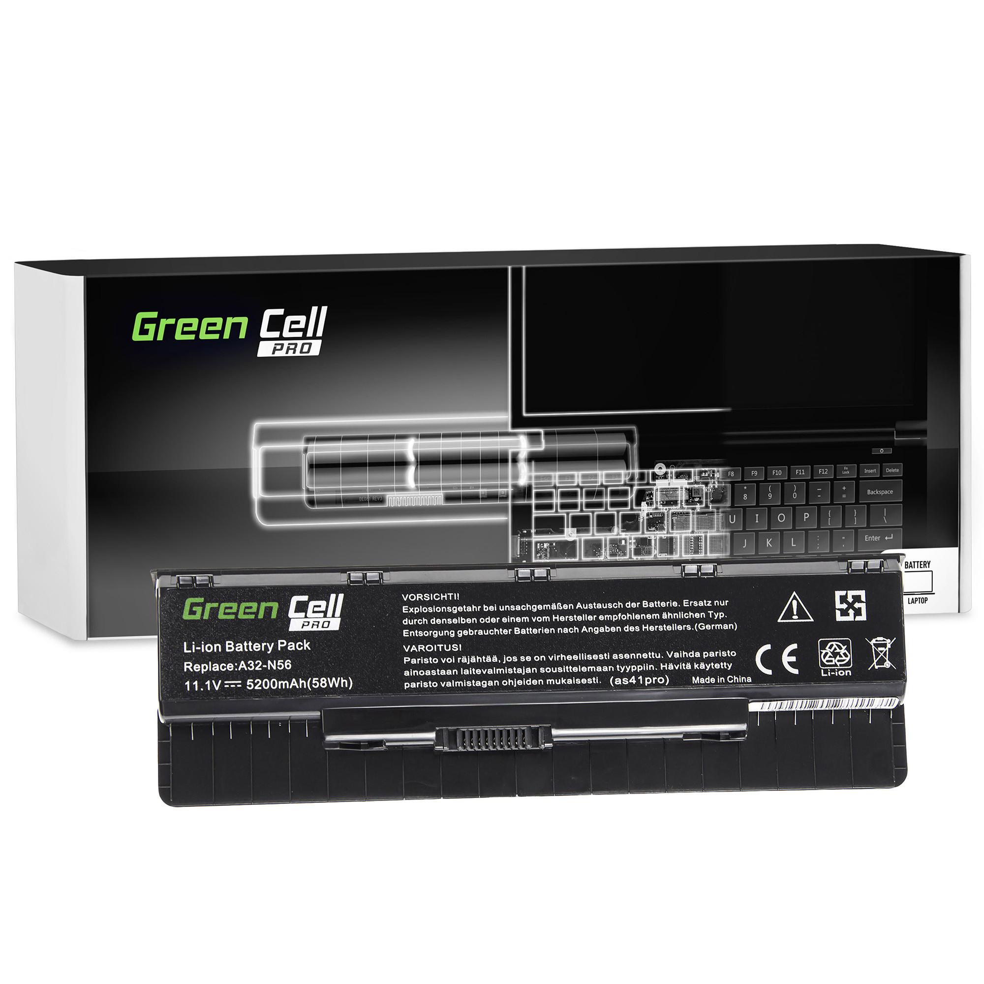 Green Cell AS41PRO Baterie Asus G56/N46/N56/N56DP/N56V/N56VM/N56VZ/N76 5200mAh Li-ion - neoriginální