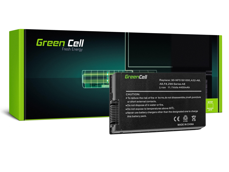 Green Cell AS46 Baterie Asus A8/A8E/A8H/A8J/F8/N81/X80/X80LE/Z99 4400mAh Li-ion - neoriginální