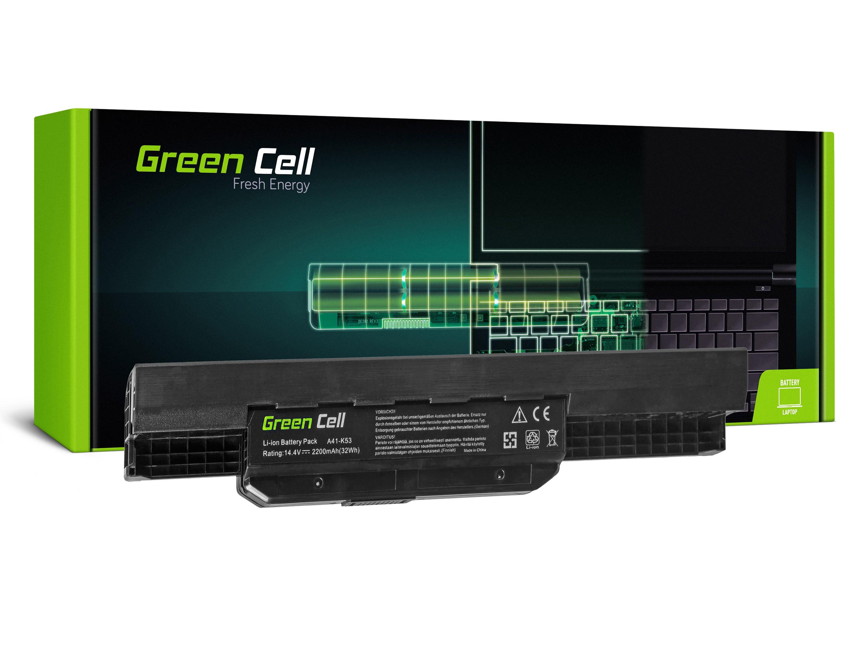 Green Cell AS53 Baterie Asus K53/K53E/K53S/K53SV/X53/X53S/X53U/X54/X54C/X54H 2200mAh Li-ion - neoriginální