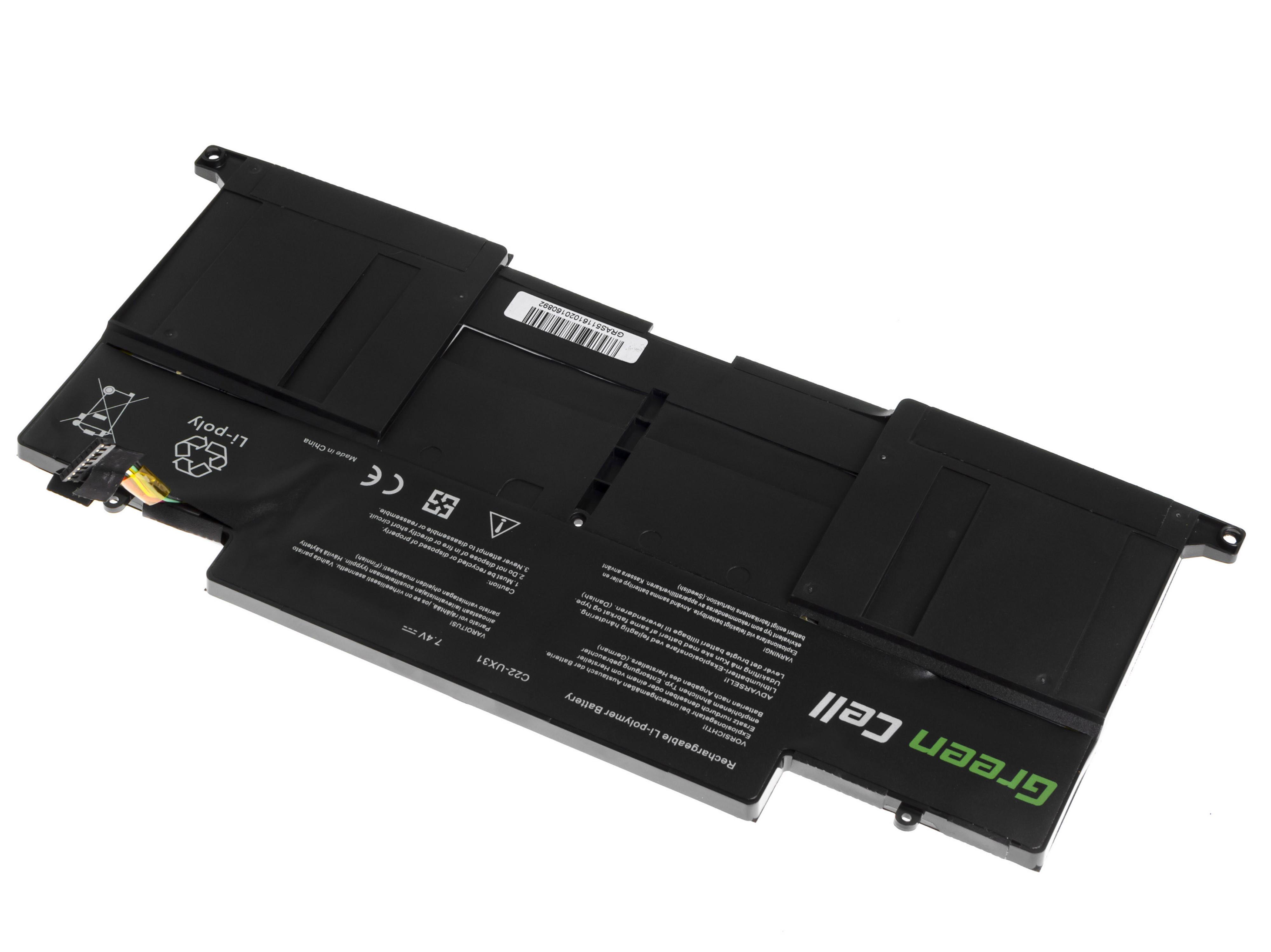 Green Cell AS72 Baterie Asus ZenBook UX31/UX31A/UX31E/UX31LA 6800mAh Li-Pol – neoriginální