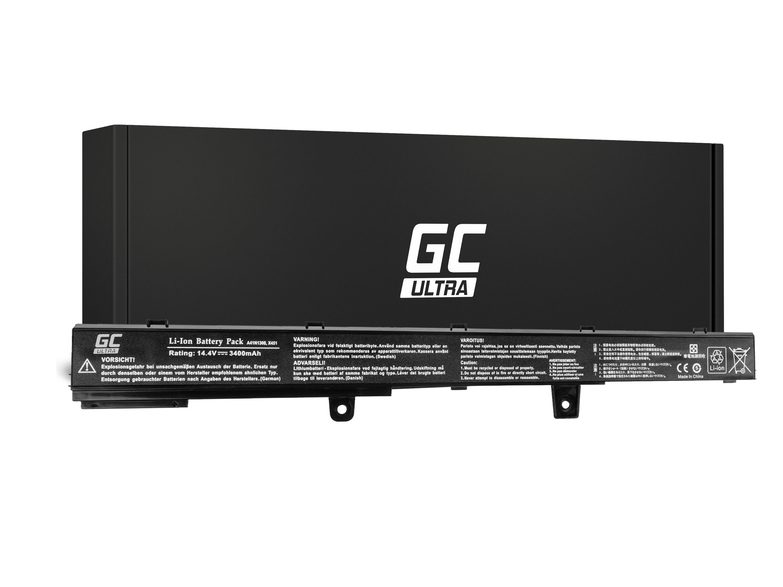 Green Cell AS75ULTRA Baterie Asus A31LJ91  A31N1319  A41N1308 Asus X551 X551C X551CA X551M X551MA X551MAV F551 F551C F551M R512C 3400mAh Li-ion - neoriginální