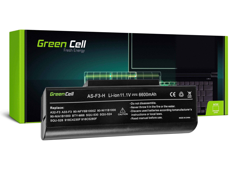 Green Cell AS82 Baterie Asus F2/F3/F3E/F3F/F3J/F3S/F3SG/M51 6600mAh Li-ion - neoriginální
