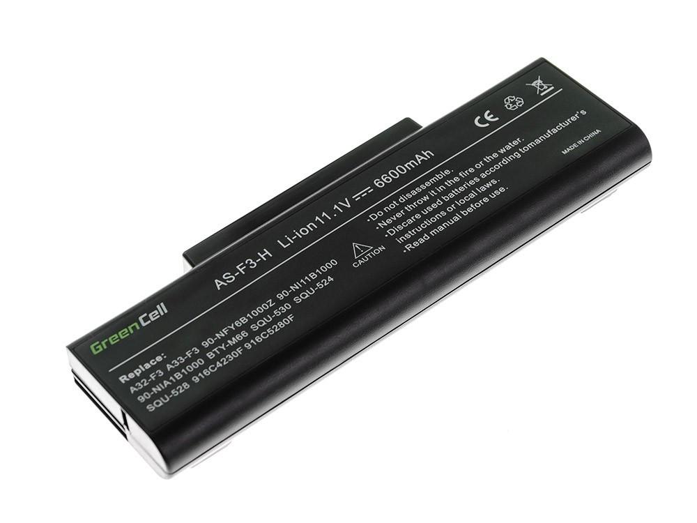 Green Cell Baterie pro Asus F2 F2J F3 F3S F3E F3F F3K F3SG F7 M51 / 11,1V 6600mAh