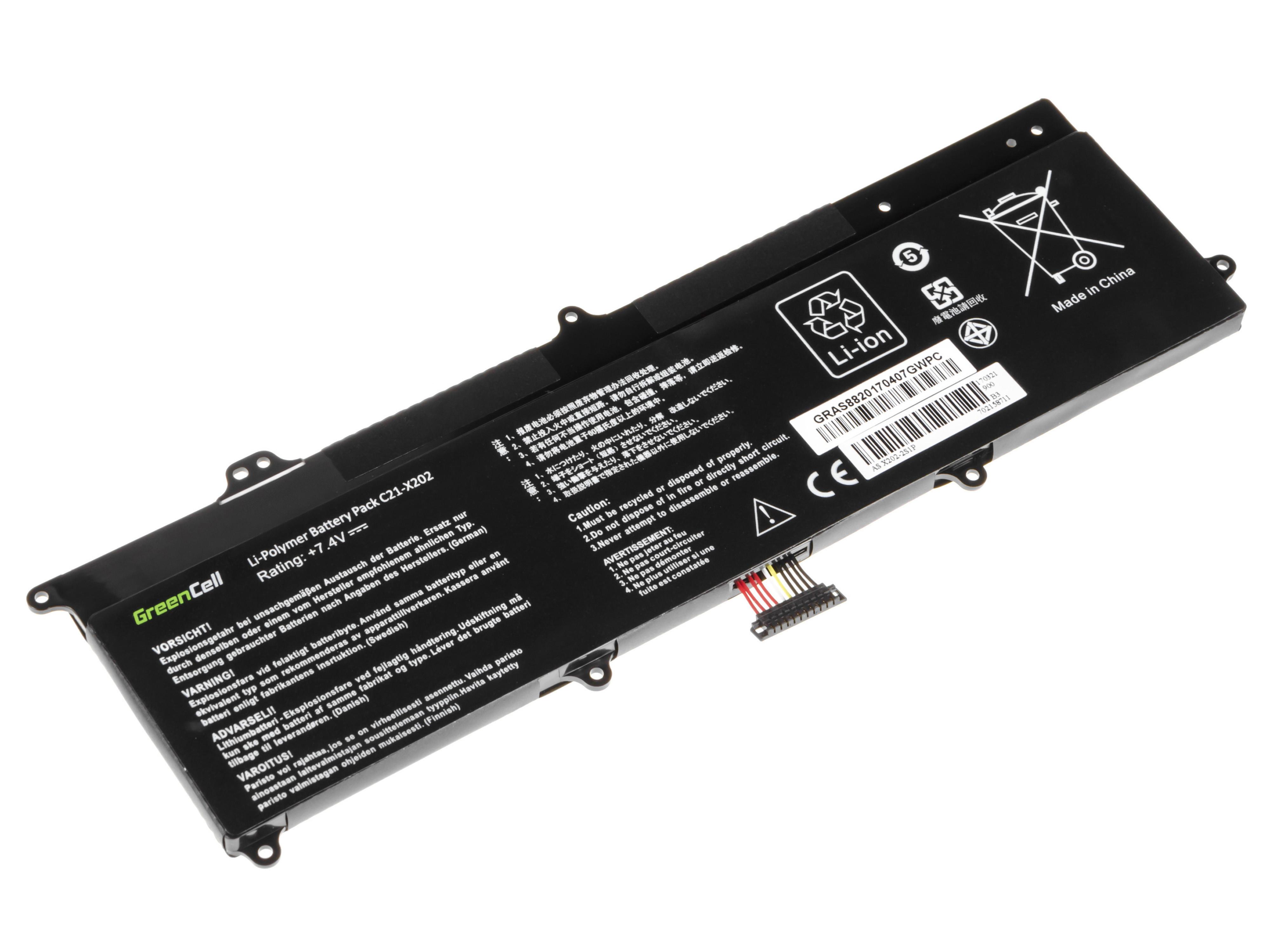 Green Cell AS88 Baterie Asus X201E/F201E/VivoBook F202E/Q200E/S200E/X202E 4500mAh Li-Pol – neoriginální