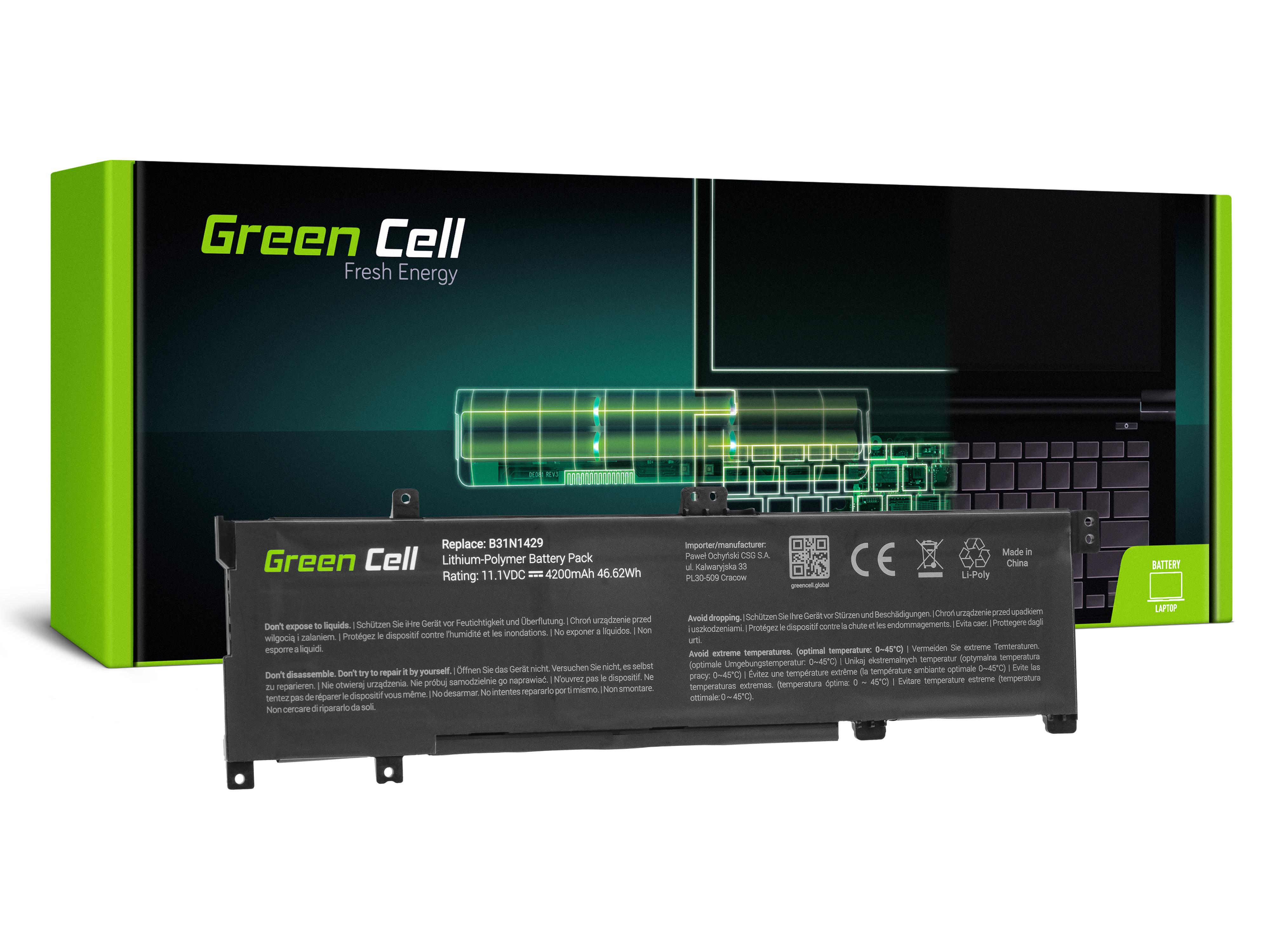 Green Cell Baterie pro Asus A501L K501L K501U / 11,1V 3400mAh