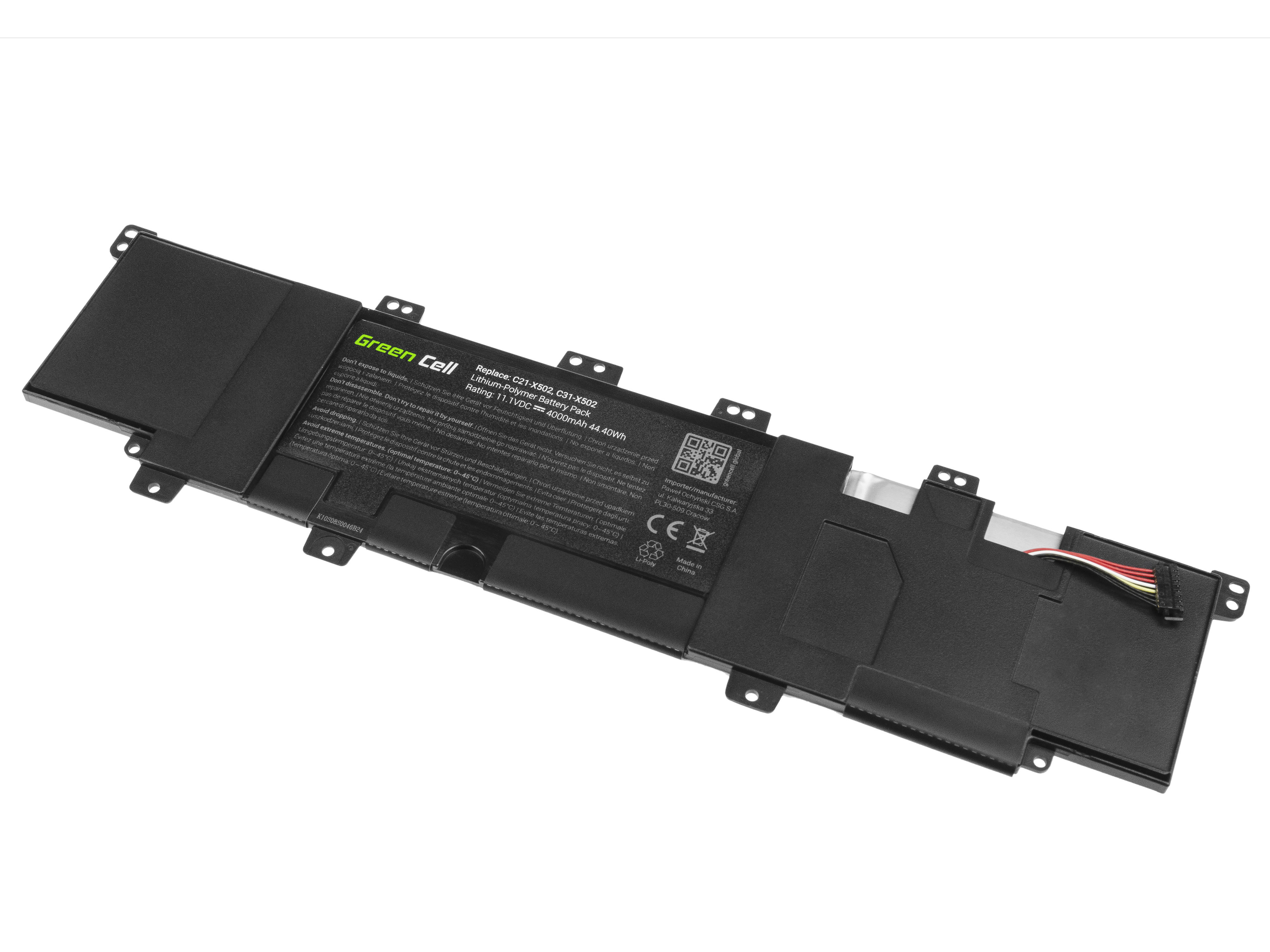 Green Cell AS98 Baterie Asus C21-X502/C31-X502/Asus F502C/X502C/S500C/PU500C 4000mAh Li-Pol – neoriginální
