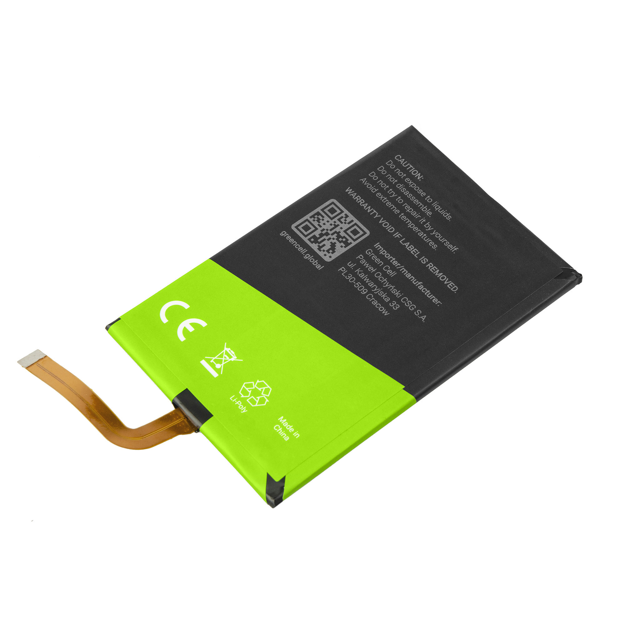 Green Cell BP103 Baterie do mobilu Blackberry BPCLS00001B Blackberry Classic Q20 2500mAh Li-Pol – neoriginální
