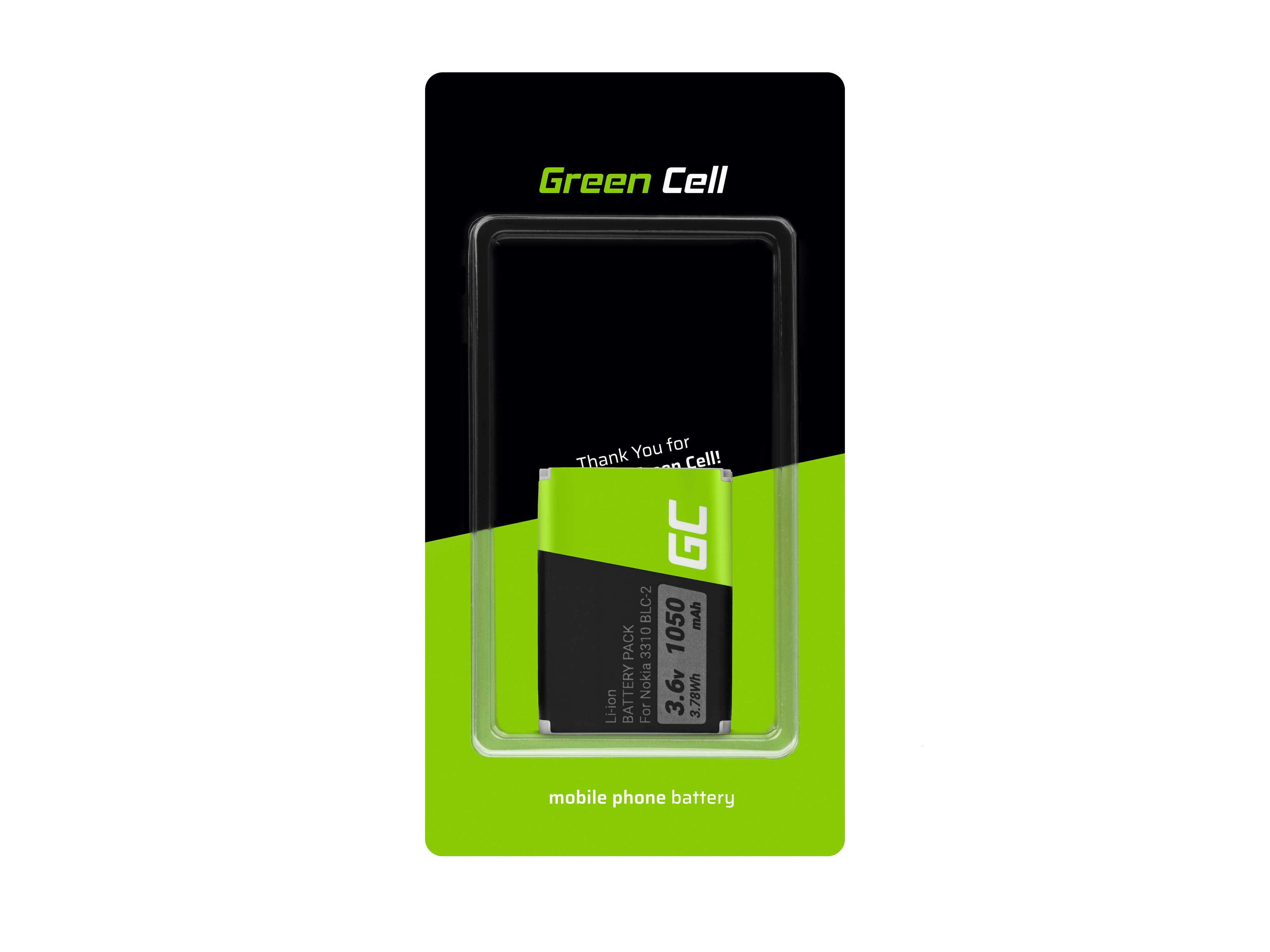 Green Cell Phone Baterie pro Nokia 3310 3315 3330 3350 3410 3510 3510i 3520 5510 6650 6800 6810