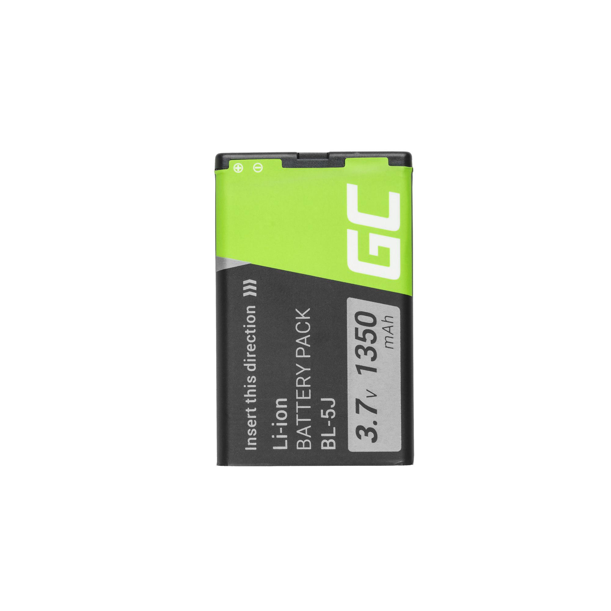 Baterie Green Cell Nokia BL-5J,BL5J Nokia Lumia, Asha 1250mAh Li-ion - neoriginální