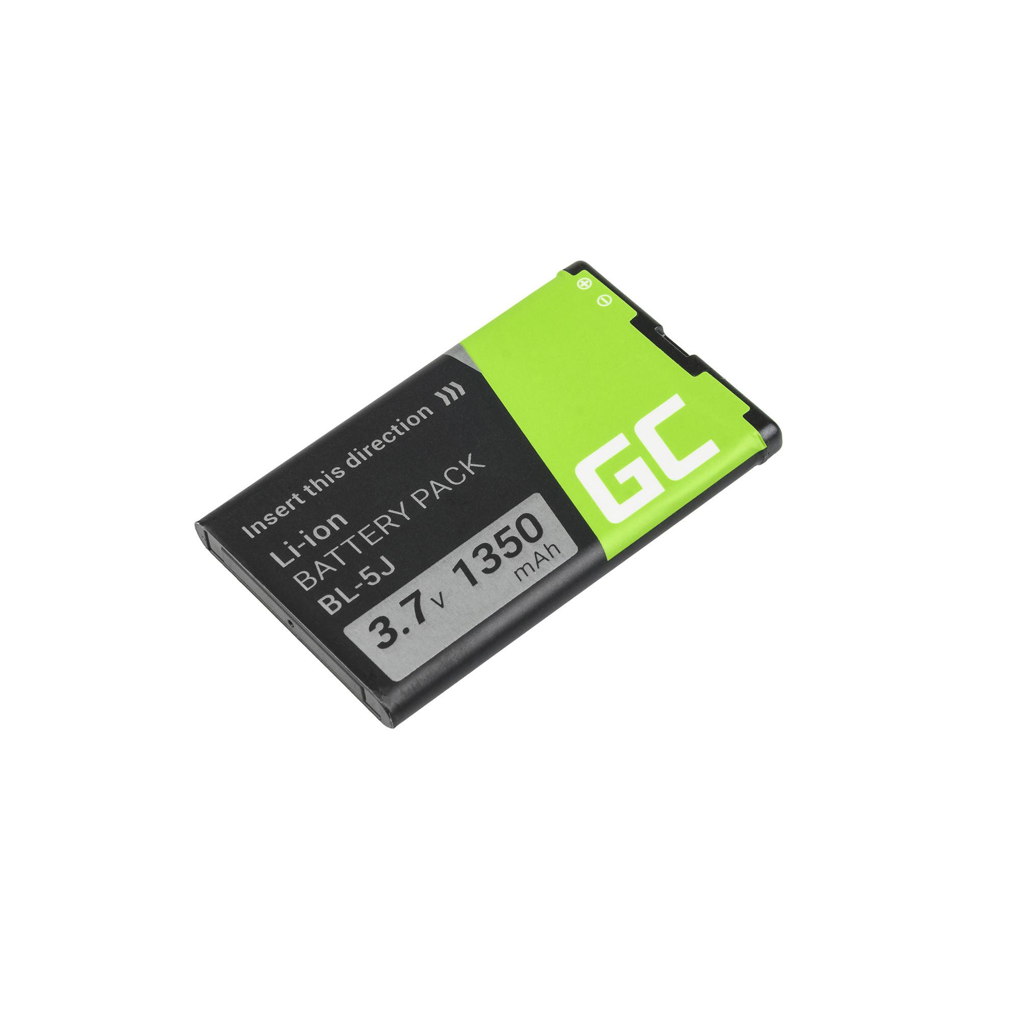 Green Cell Smartphone Baterie pro BL-5J BL5J pro Nokia Lumia 520 525 530 ASHA 200 201