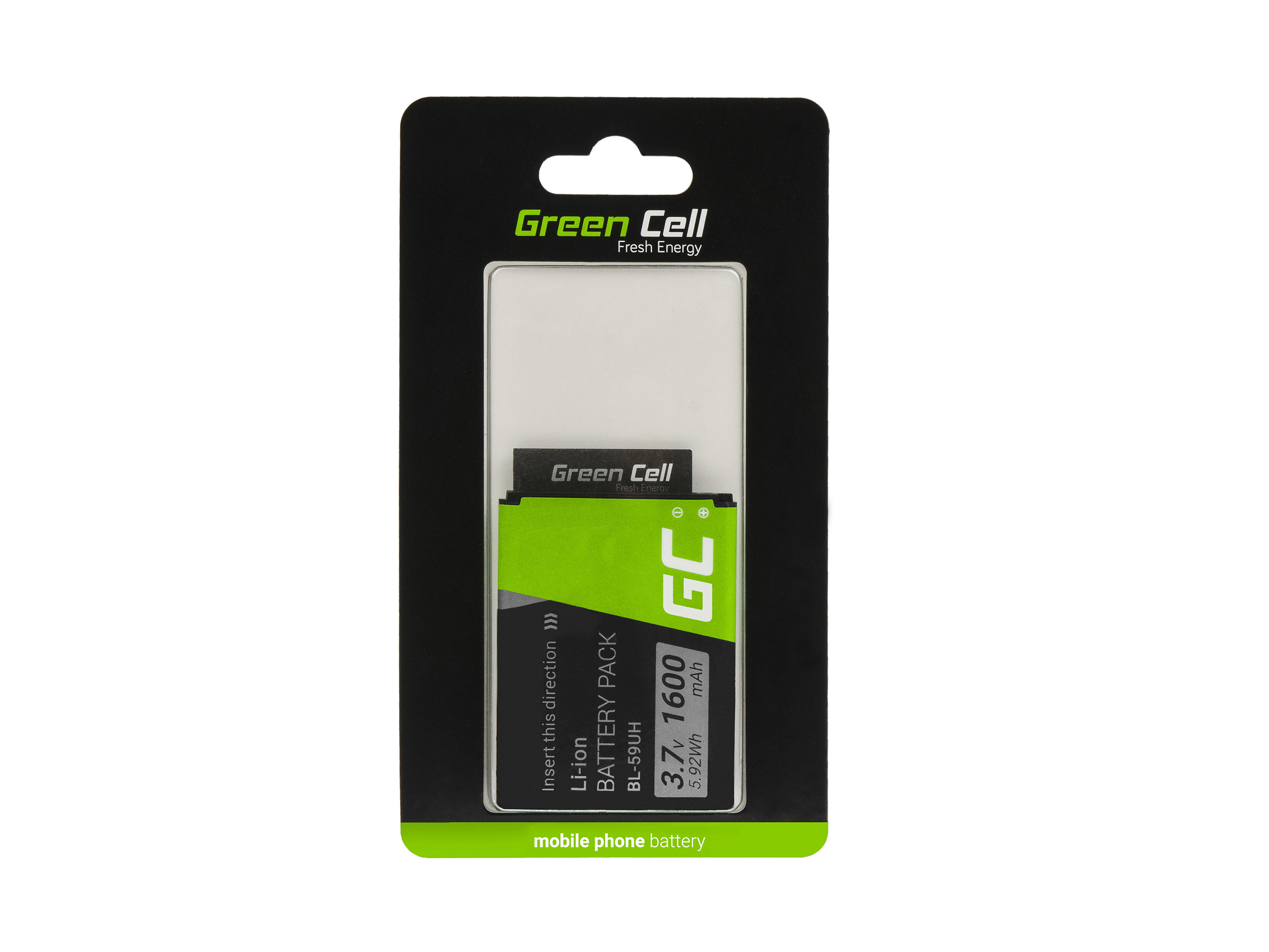 Baterie Green Cell LG BL-59UH pro LG G2 Mini 1600mAh Li-ion - neoriginální