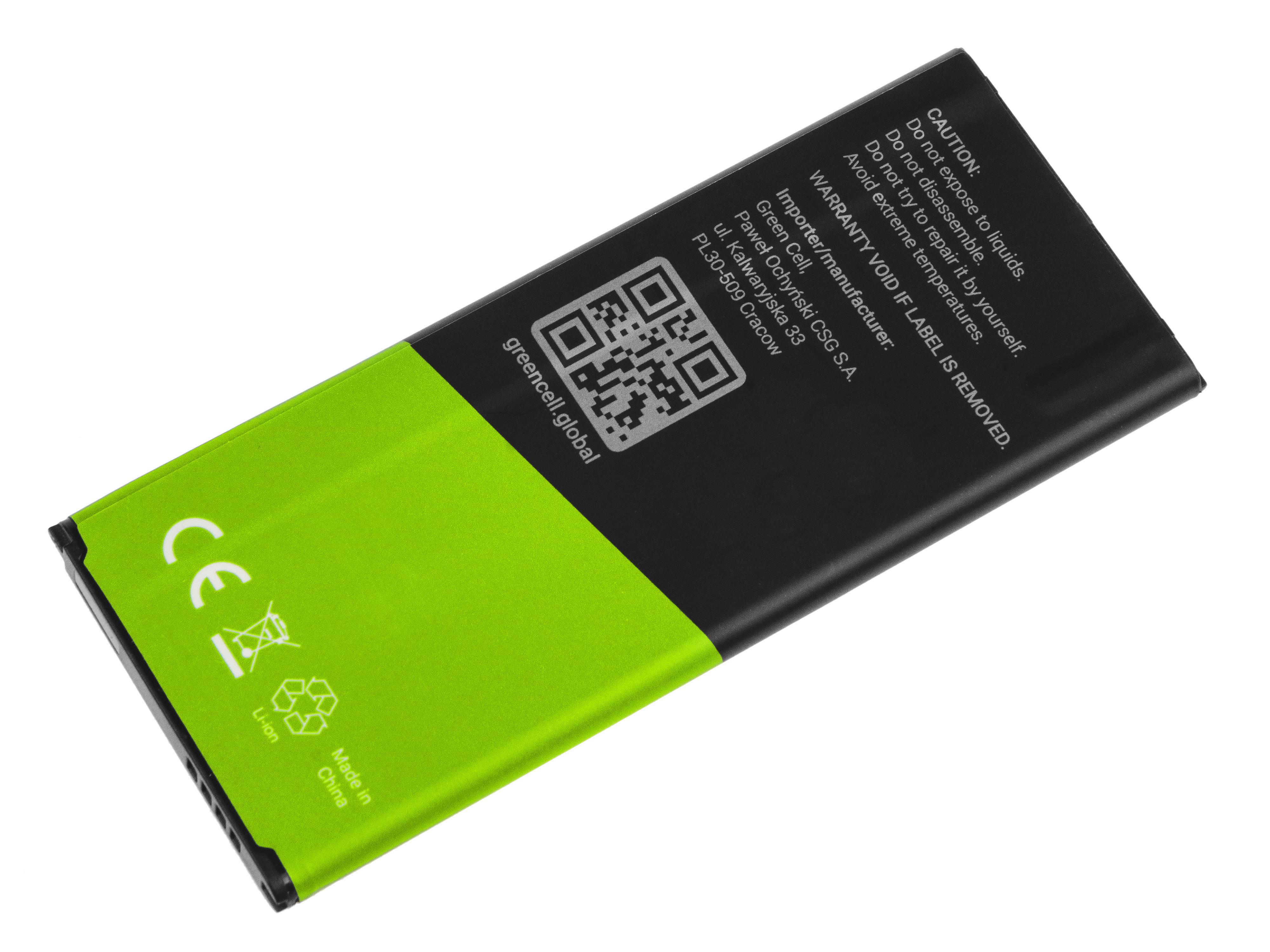 Baterie Green Cell Baterie Samsung Galaxy Note 4 3.7V 3220mAh Li-ion - neoriginální