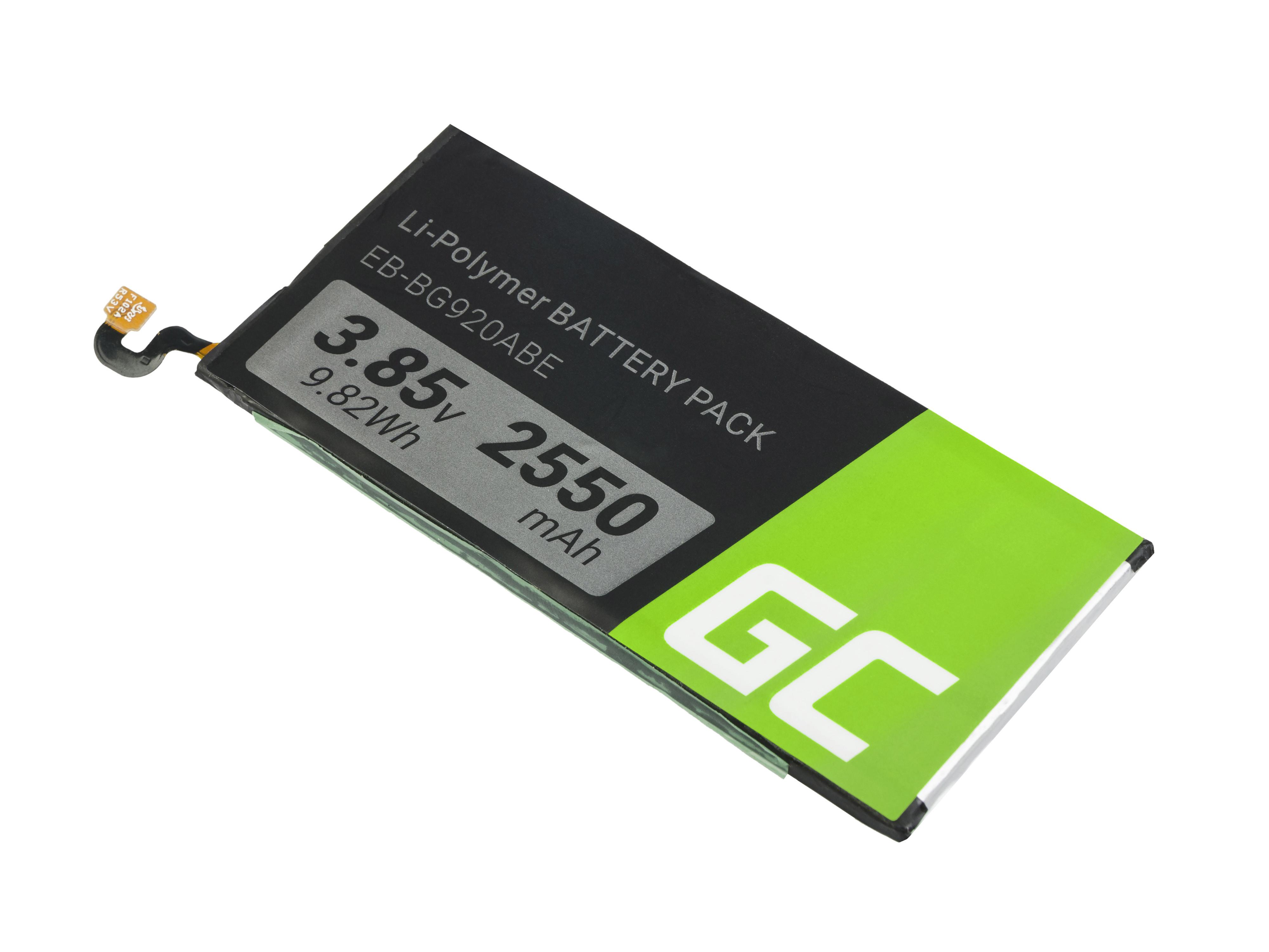 Baterie Green Cell Baterie Samsung Galaxy S6 EB-BG920ABE 3.85V 2550mAh Li-ion - neoriginální
