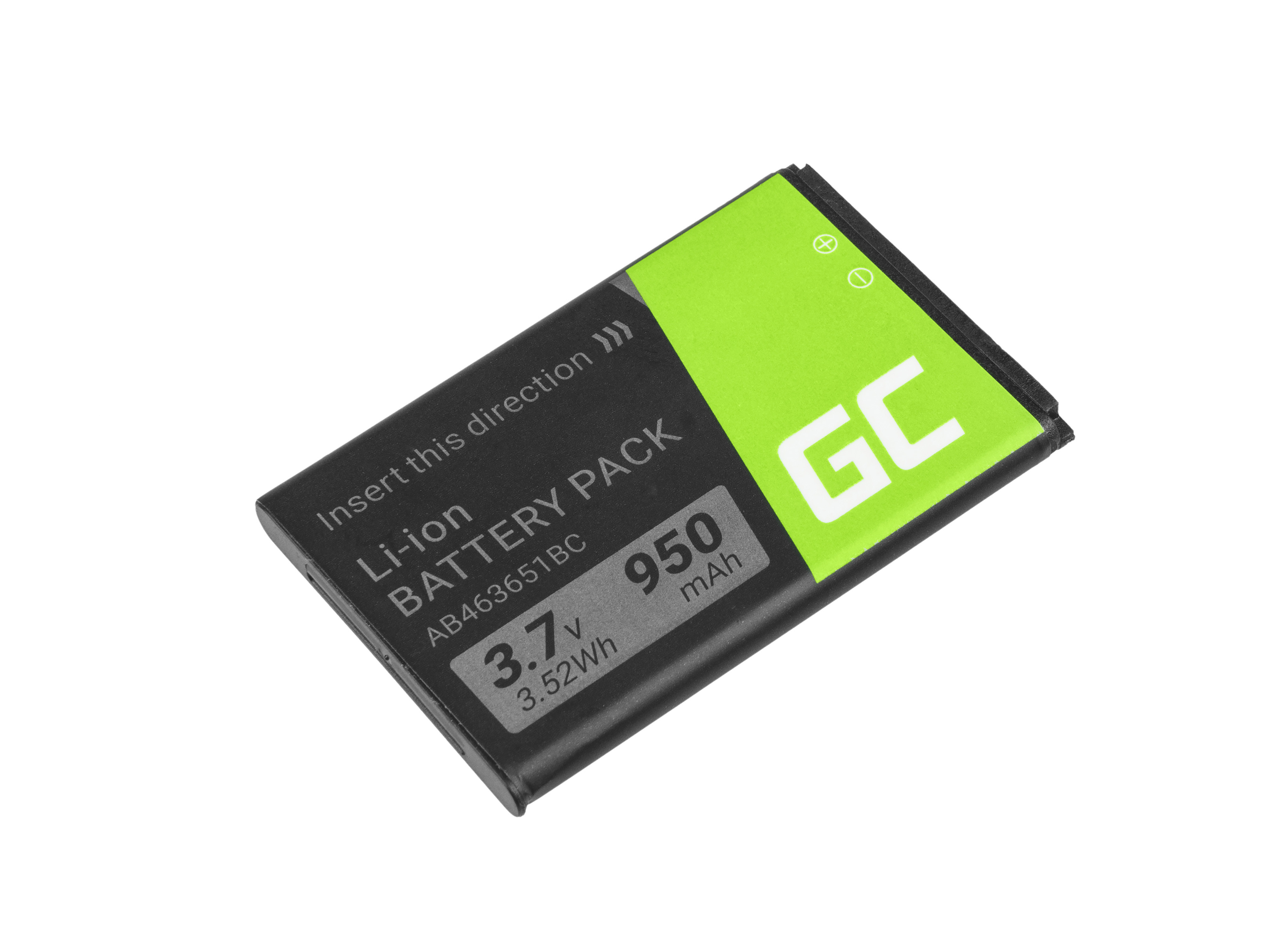 Green Cell AB463651BE Smartphone Battery for Samsung S3650 Corby S5600 P520