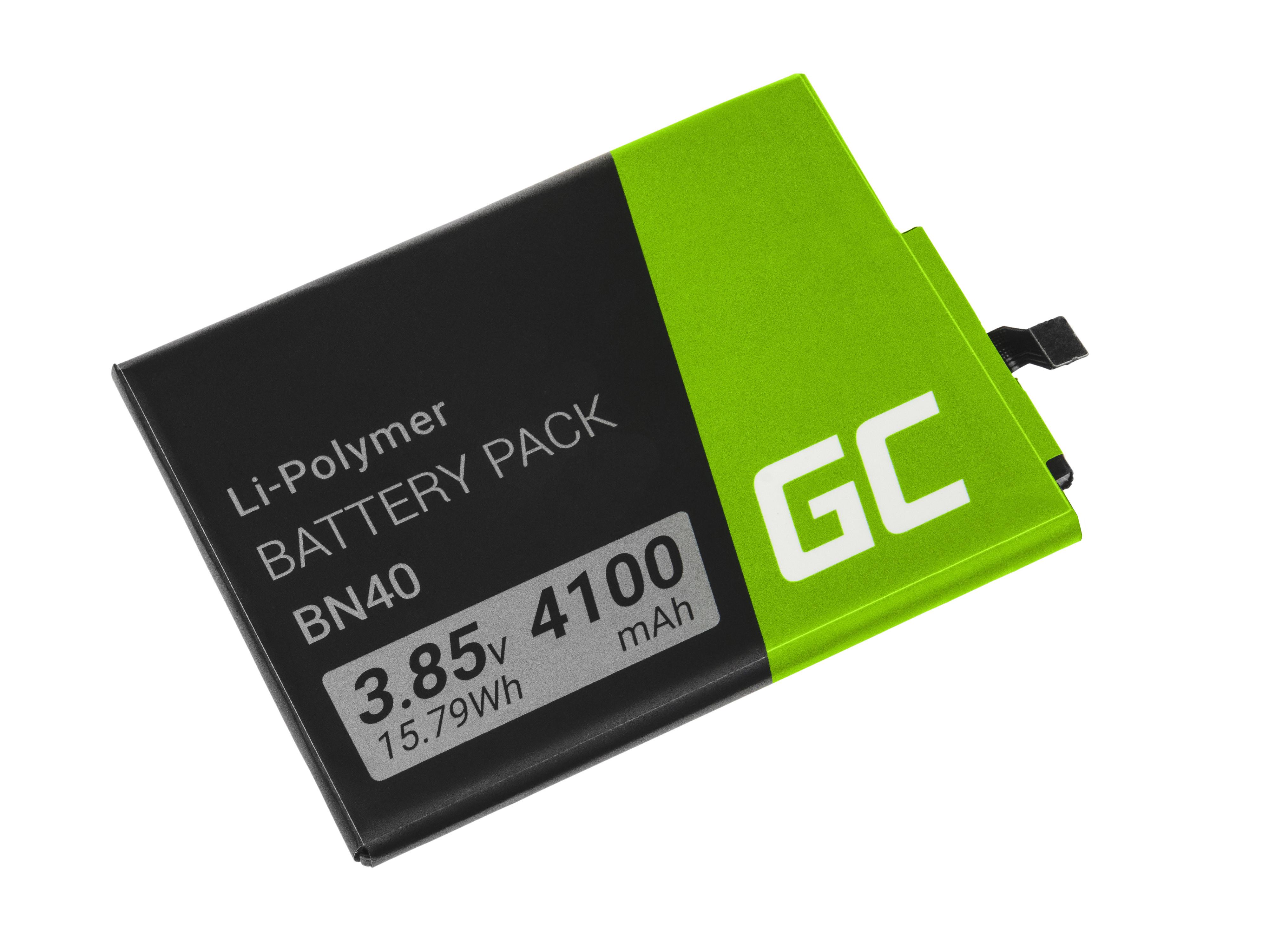 Baterie Green Cell Xiaomi BN40 Xiaomi Redmi 4 4X 4100mAh Li-Pol – neoriginální