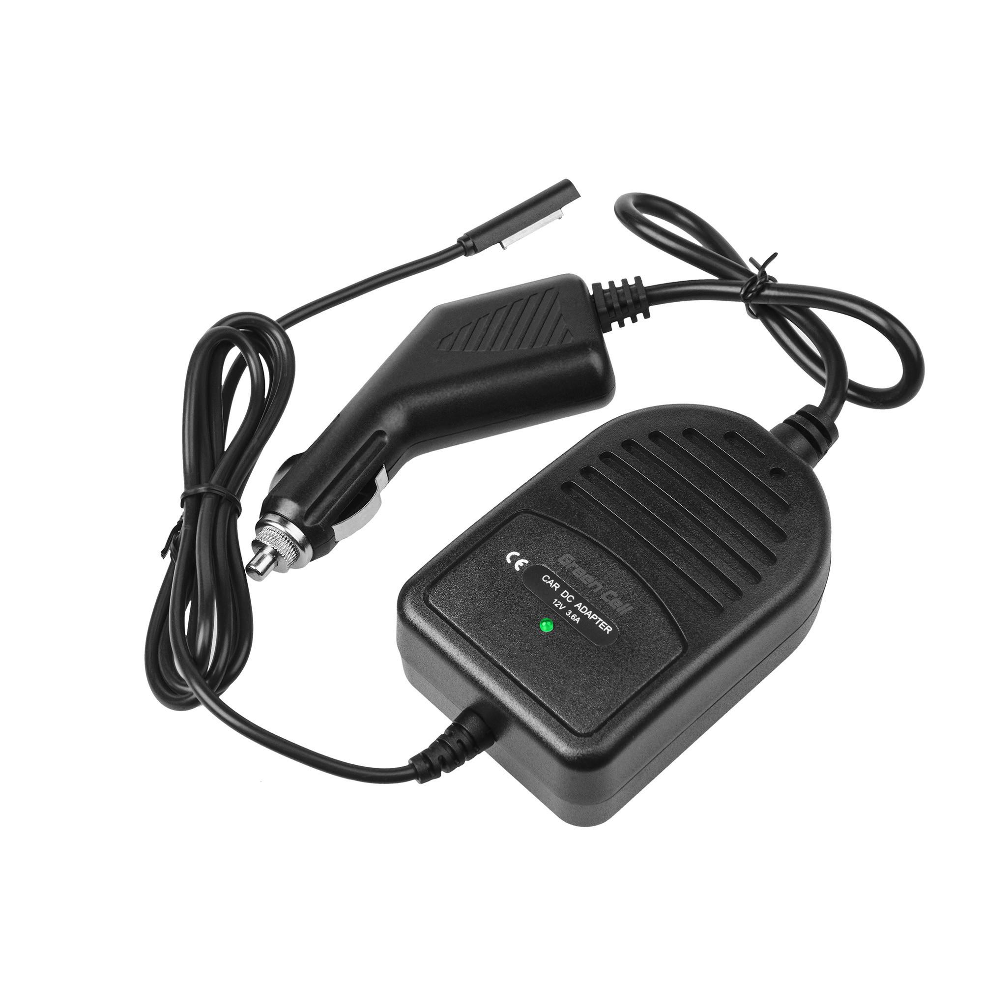 Green Cell CAD35 Adaptér Nabíječka do auta Microsoft Surface RT, RT/2, Pro i Pro 2 12V 3.6A