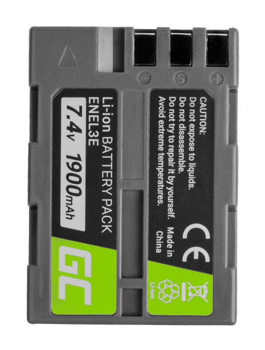 Baterie Green Cell Baterie Nikon D-SLR D50 D70 D80 D90 D100 D200 D300 D700 D900 7.4V 1800mAh Li-ion - neoriginální
